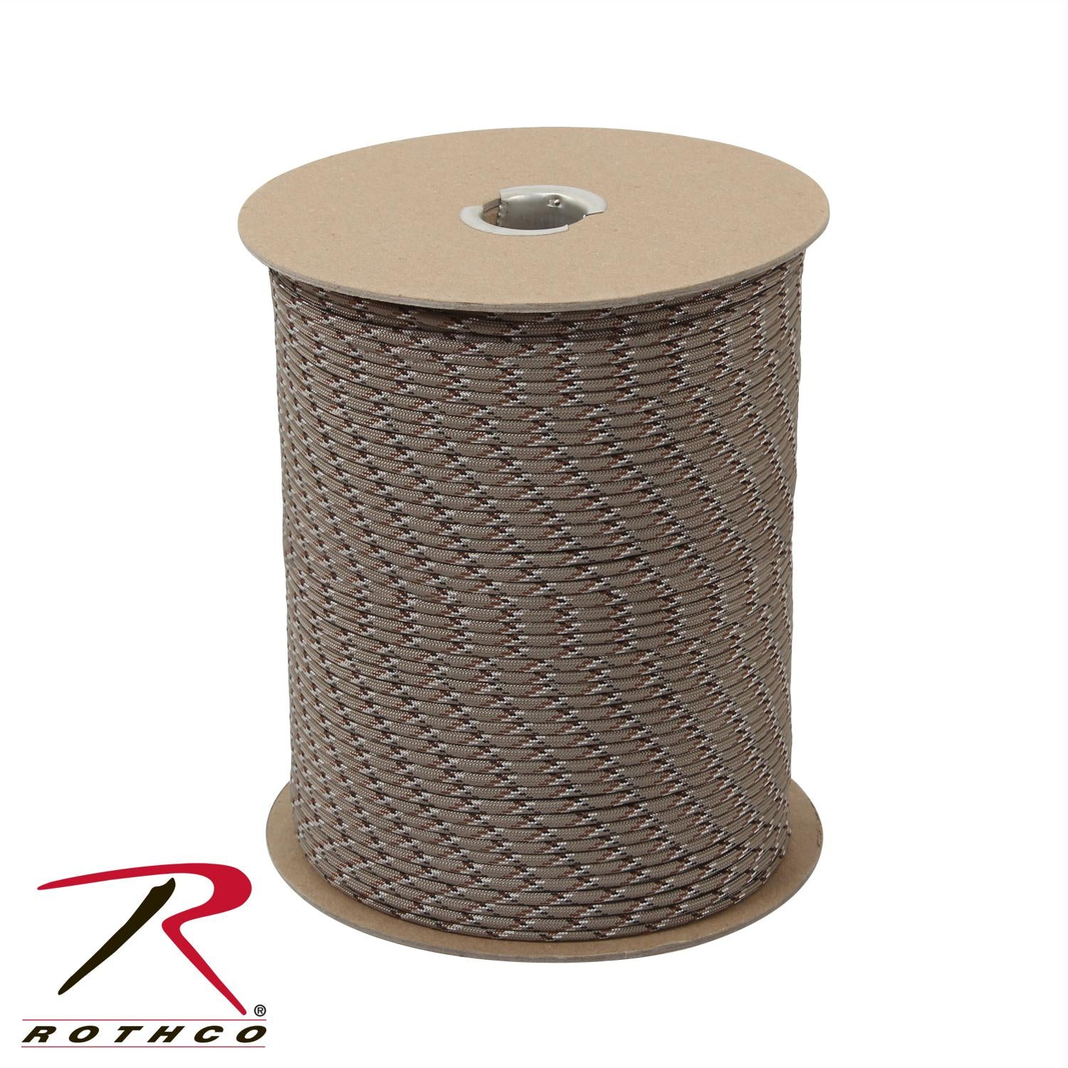 Rothco Nylon Paracord 550lb 1000 Ft Spool - Desert Camo / Tan