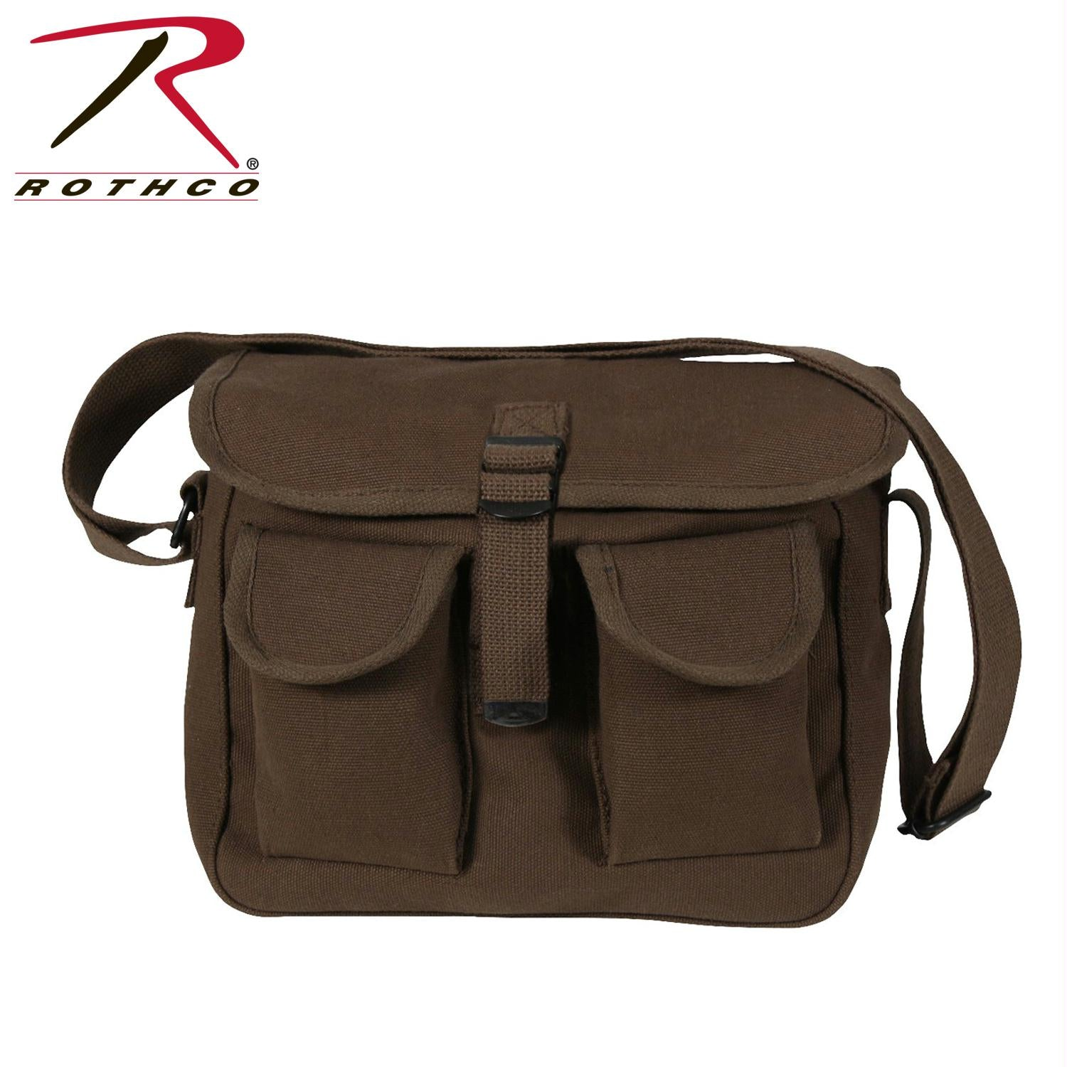Rothco Canvas Ammo Shoulder Bag - Brown