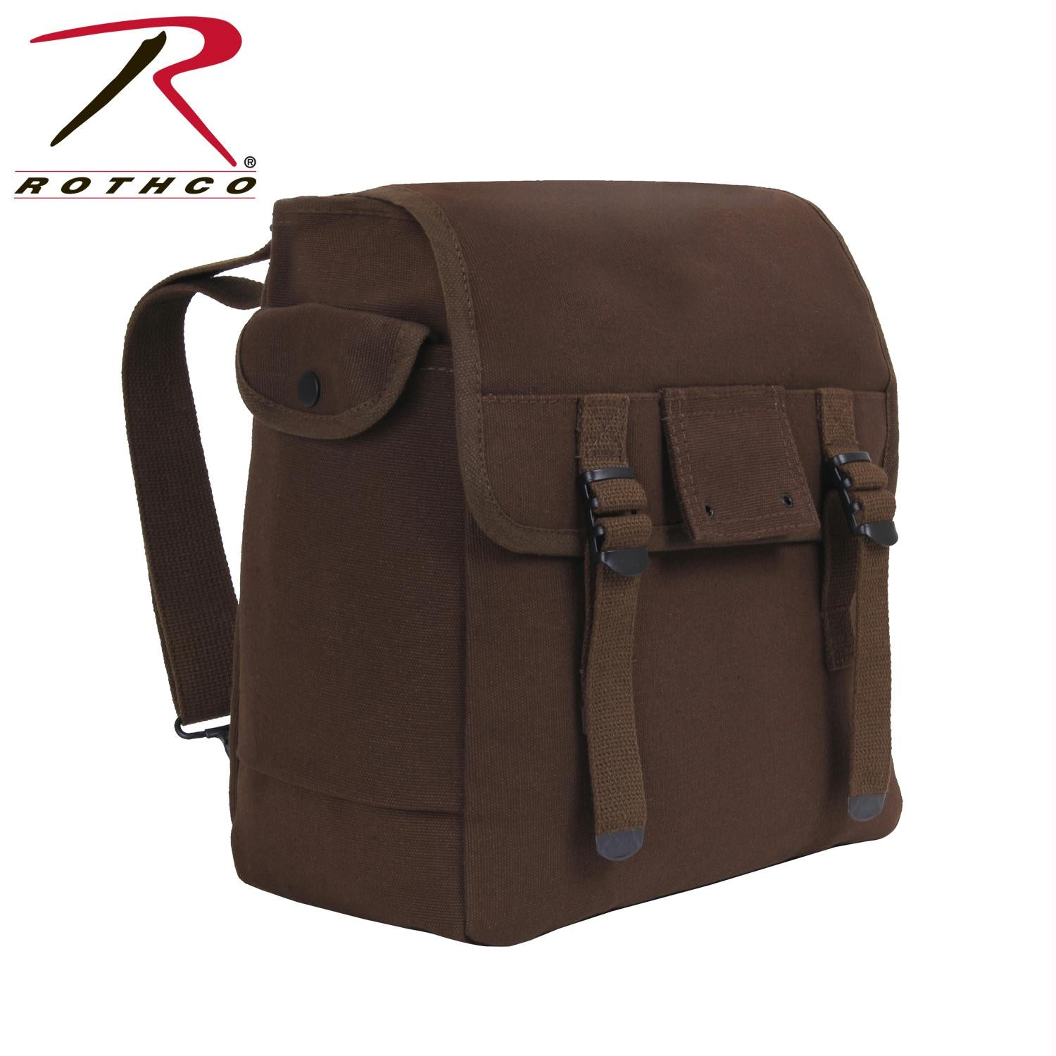 Rothco Heavyweight Canvas Musette Bag - Earth Brown
