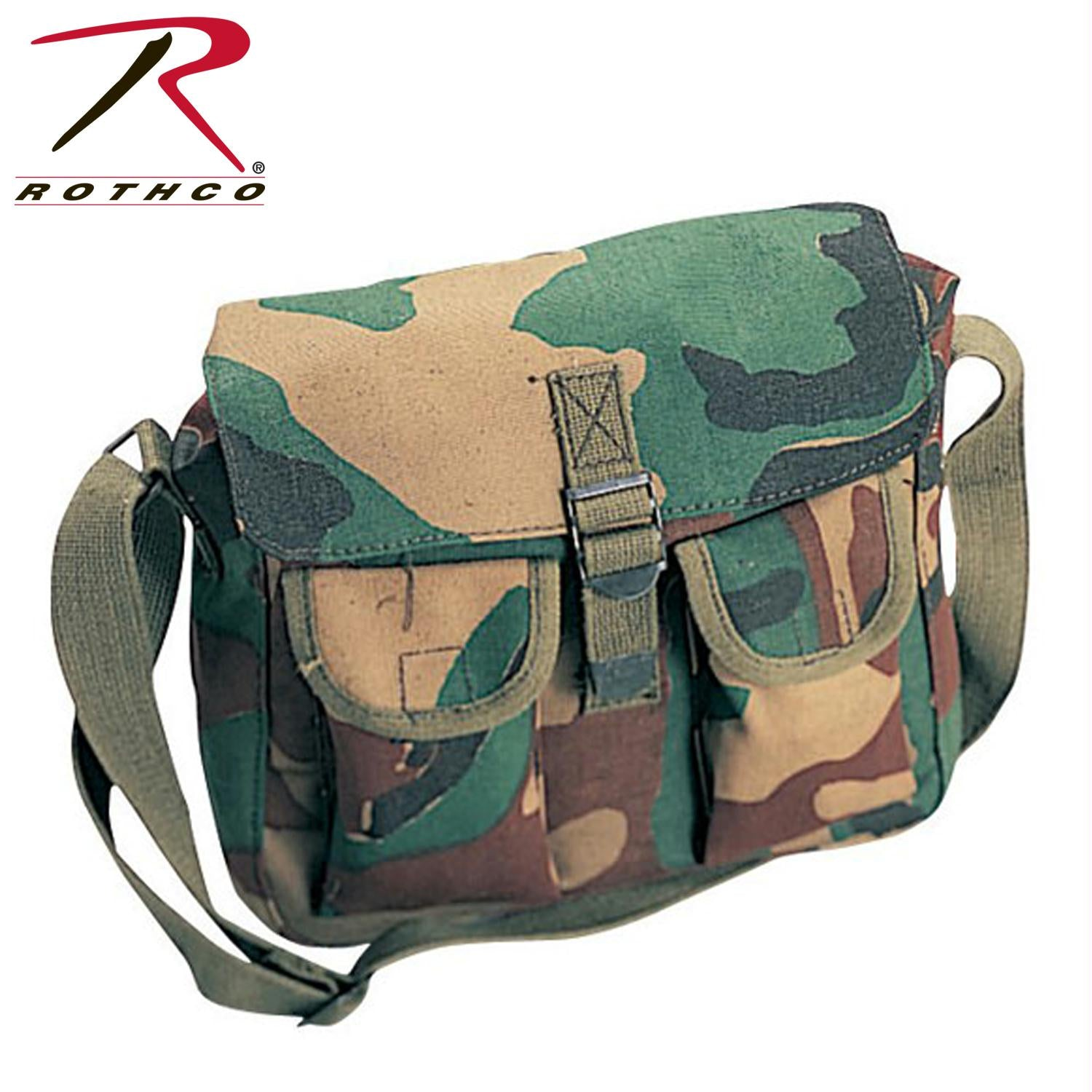 Rothco Canvas Ammo Shoulder Bag - Woodland Camo