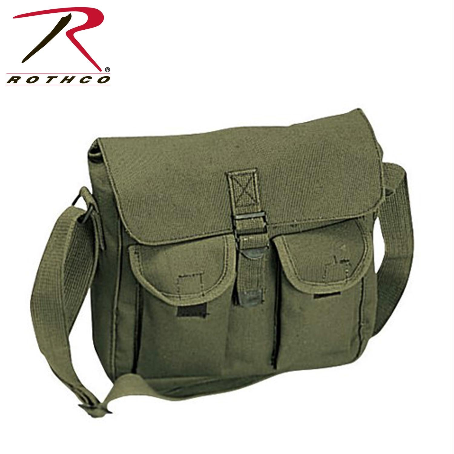 Rothco Canvas Ammo Shoulder Bag - Olive Drab