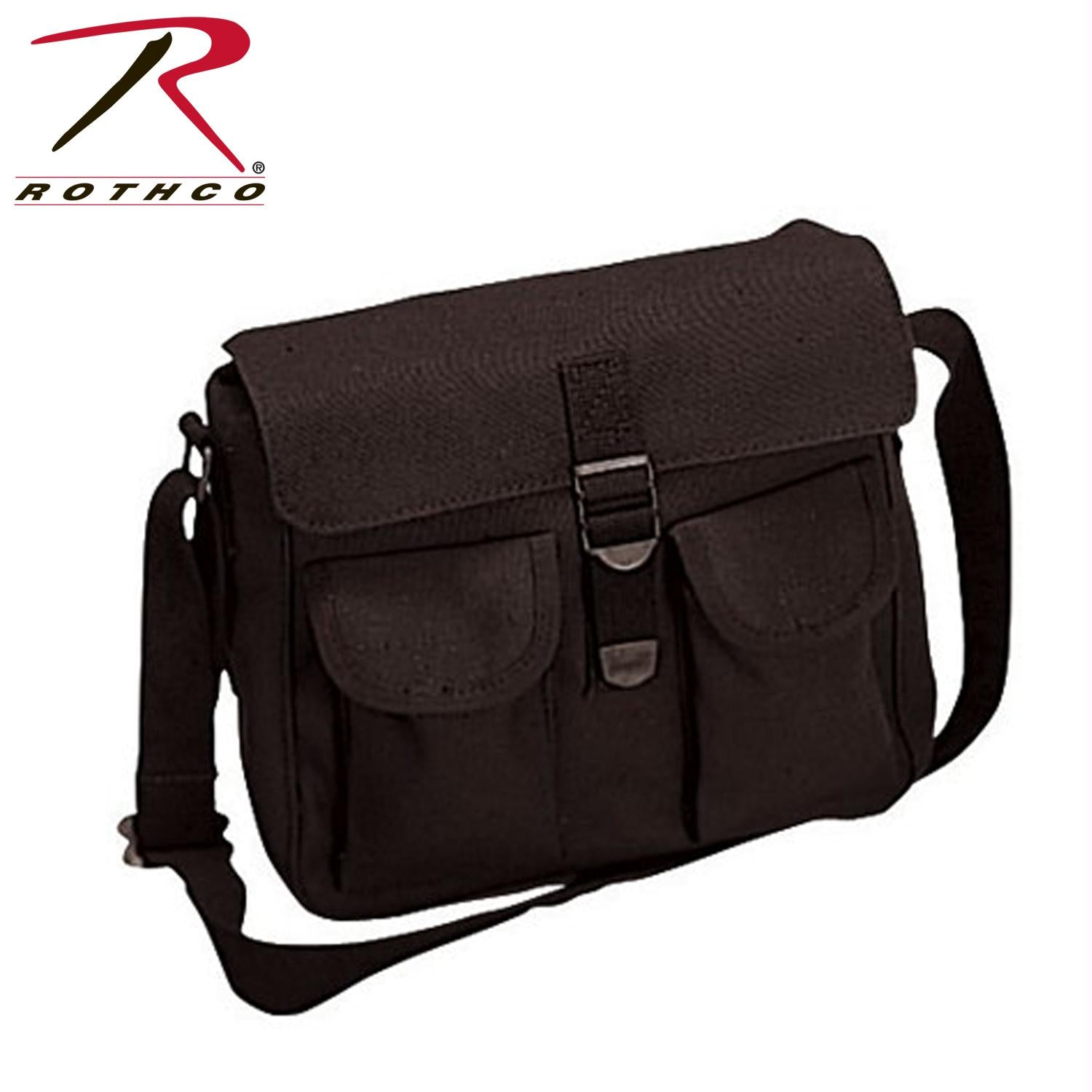 Rothco Canvas Ammo Shoulder Bag - Black