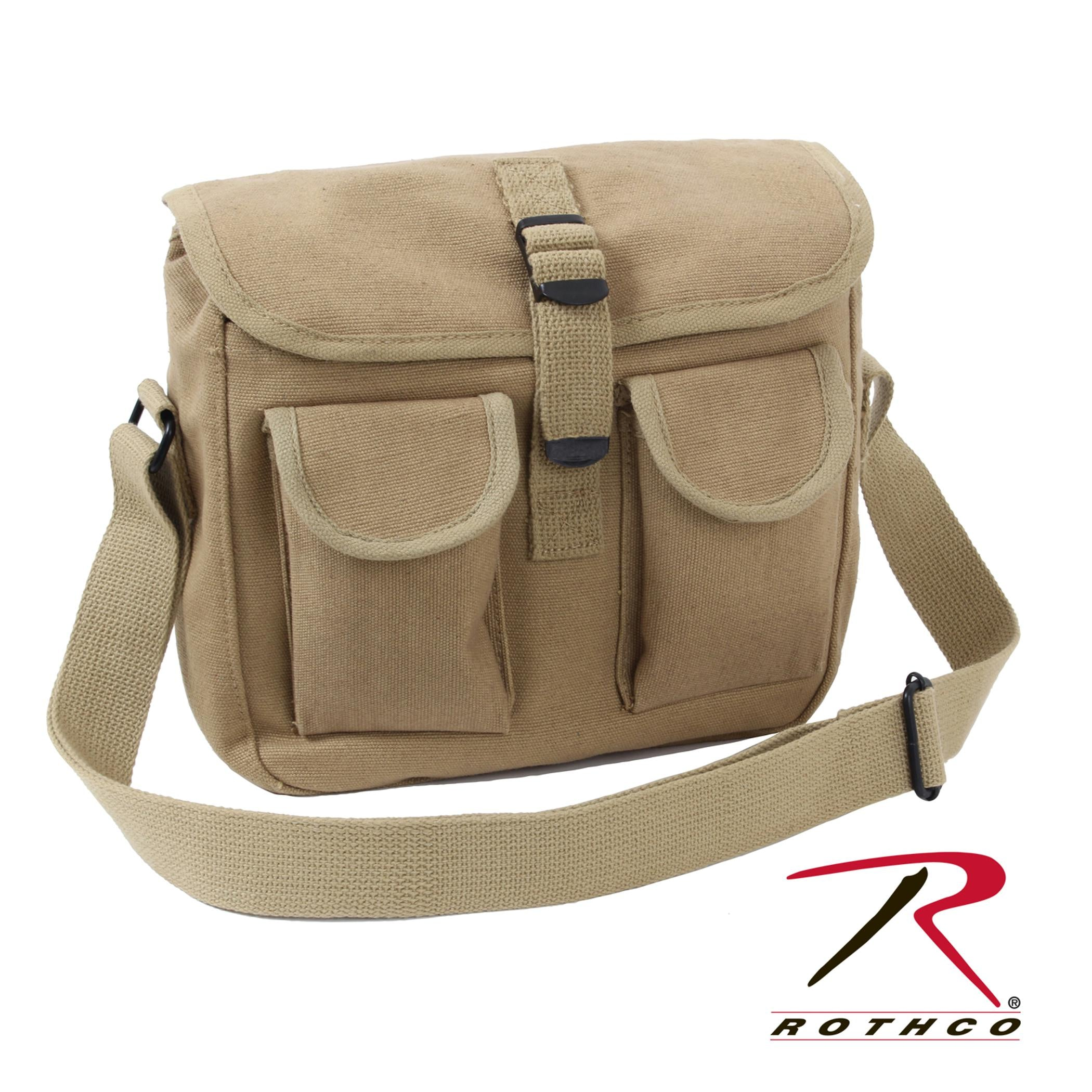 Rothco Canvas Ammo Shoulder Bag - Khaki