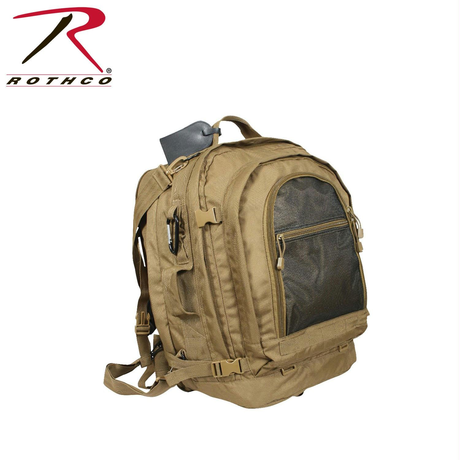 Rothco Move Out Tactical/Travel Backpack - Coyote Brown