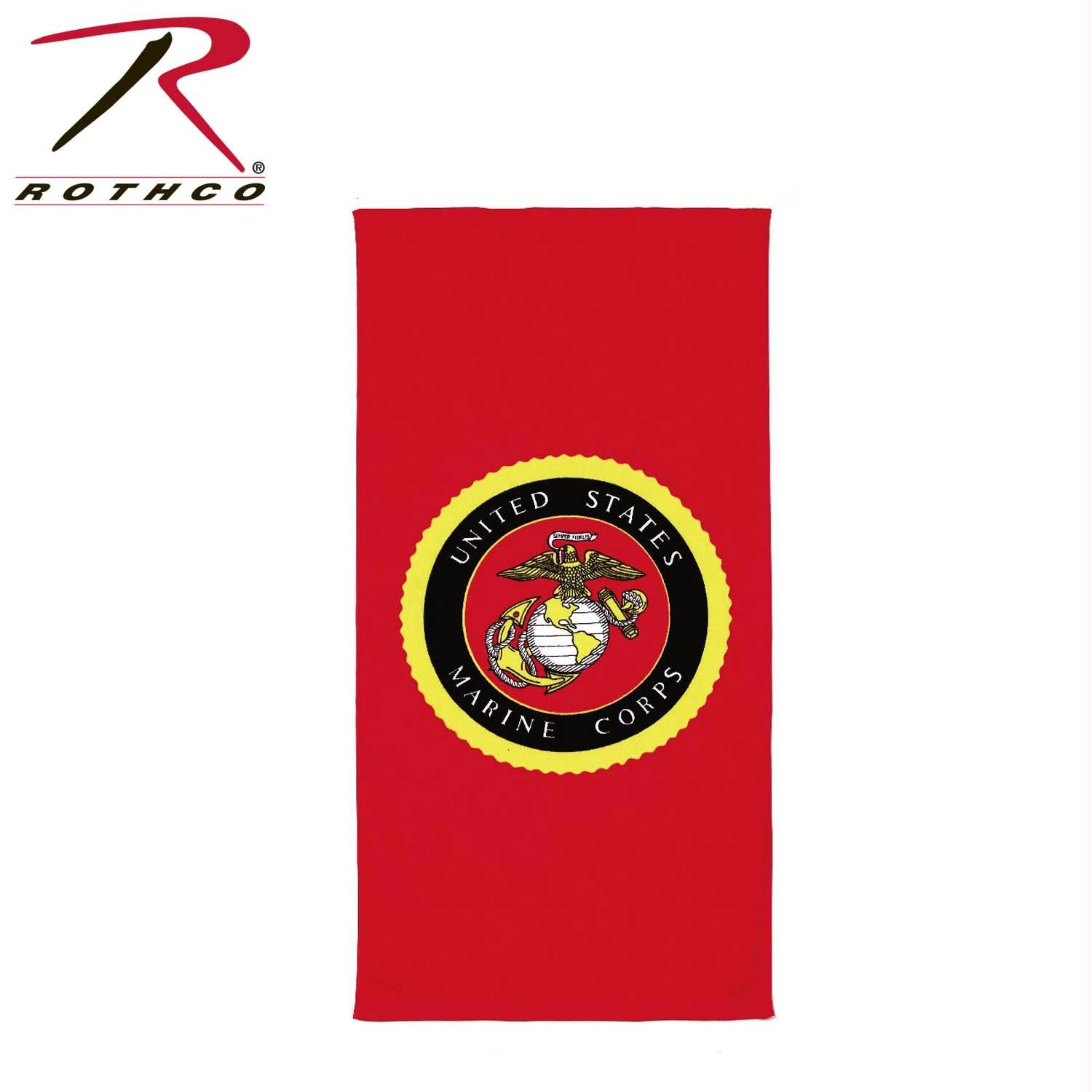 Rothco Beach Towel - Military Insignia - USMC Red