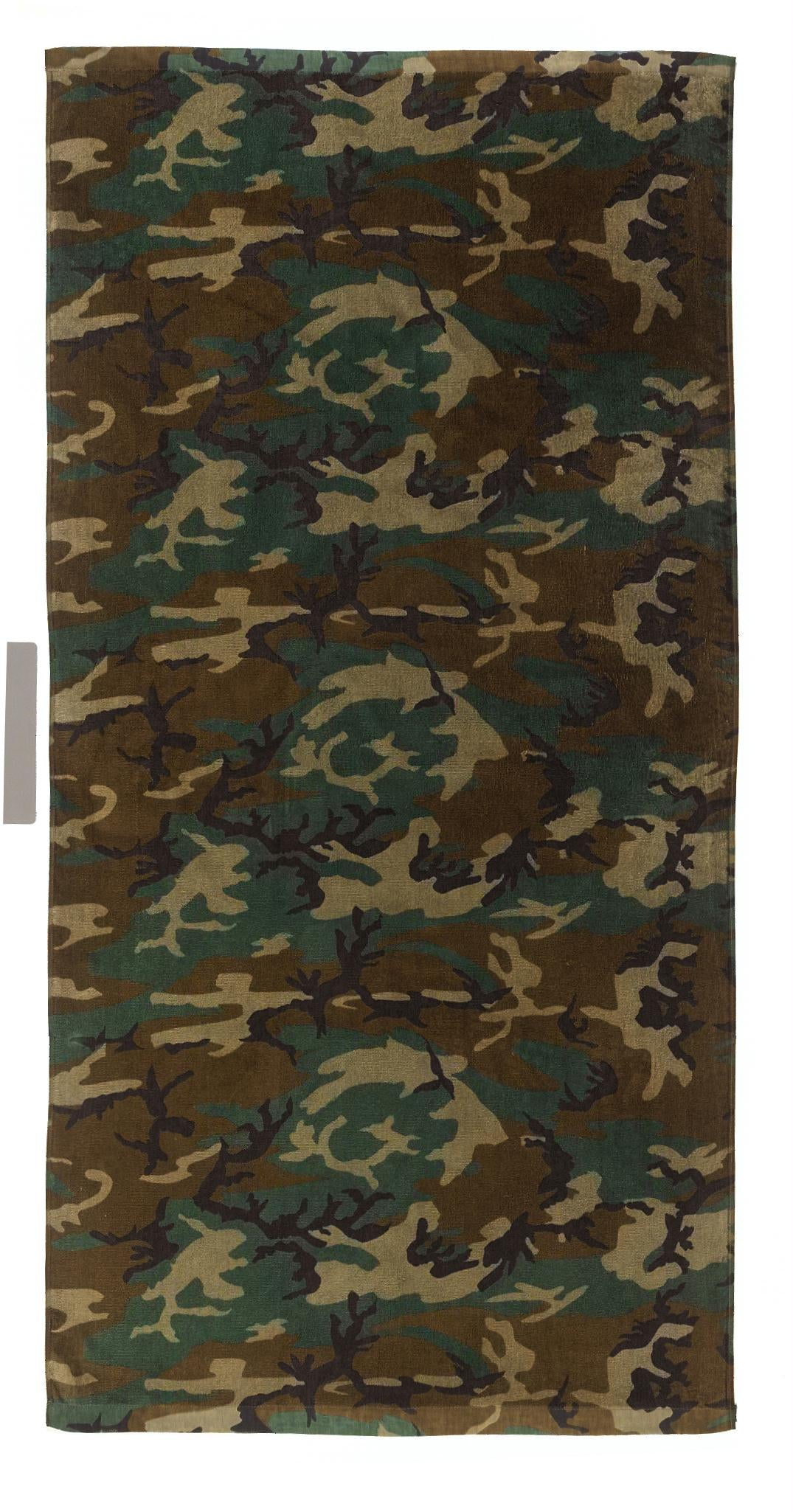 Rothco Beach Towel - Military Insignia - Woodland Camo