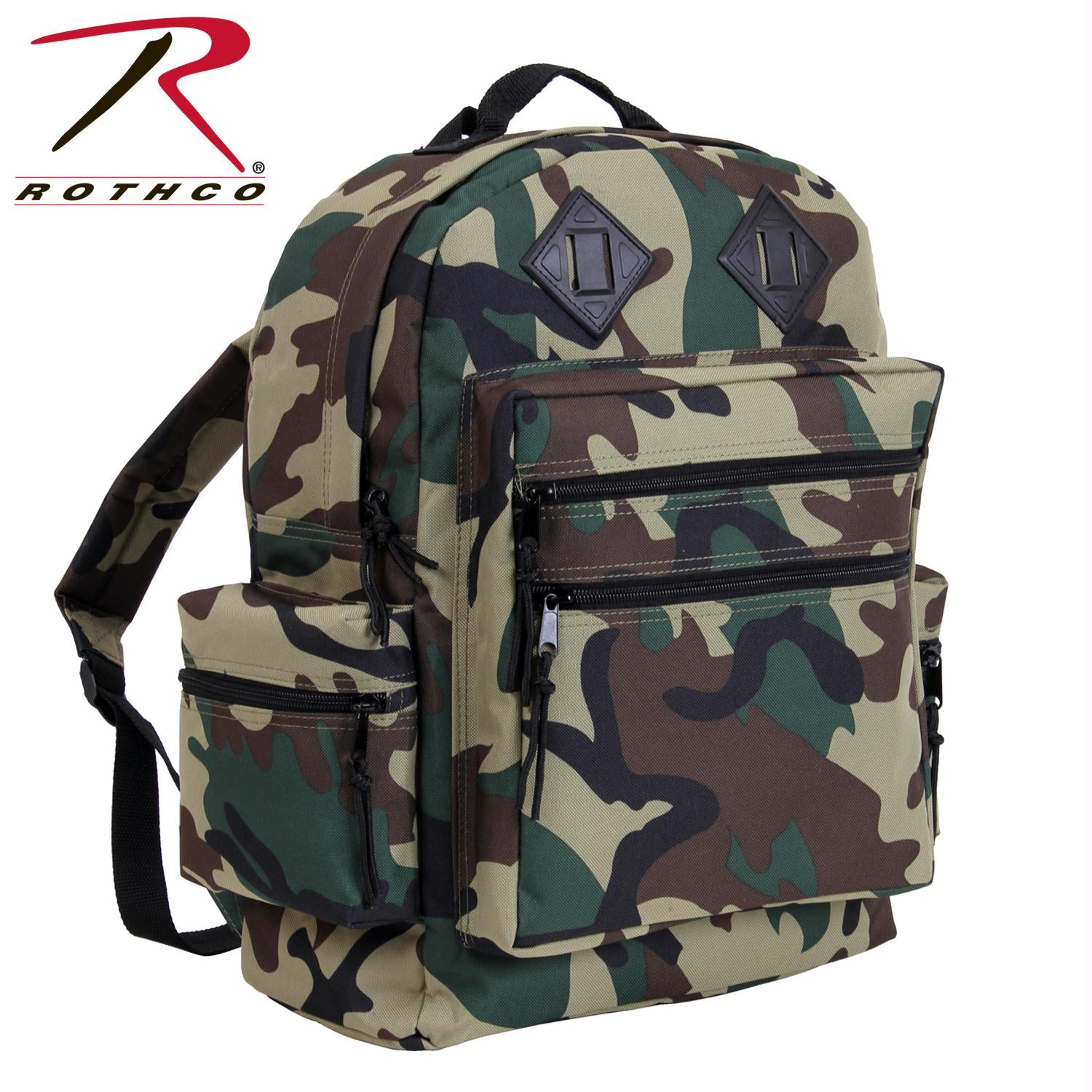 Rothco Deluxe Day Pack - Woodland Camo