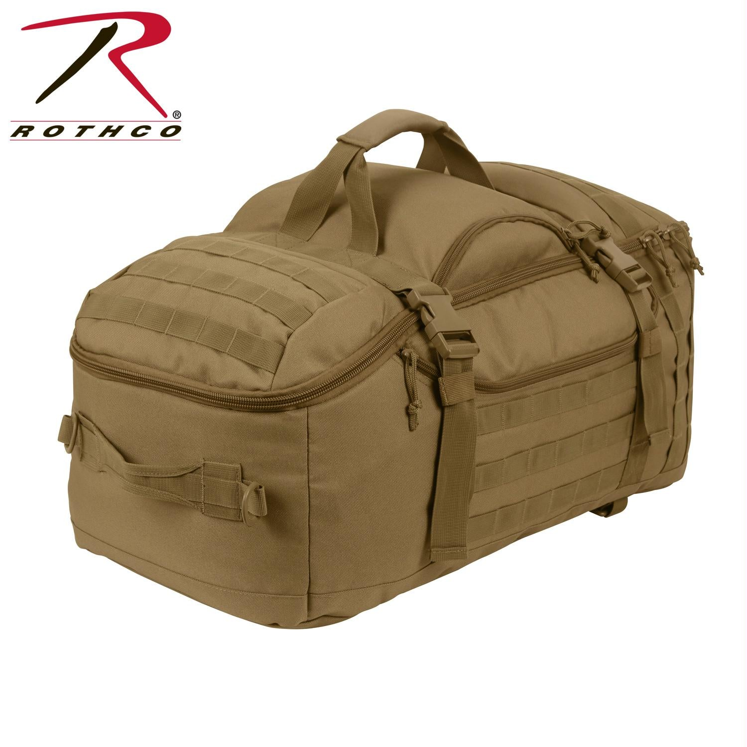 Rothco 3-In-1 Convertible Mission Bag - Coyote Brown