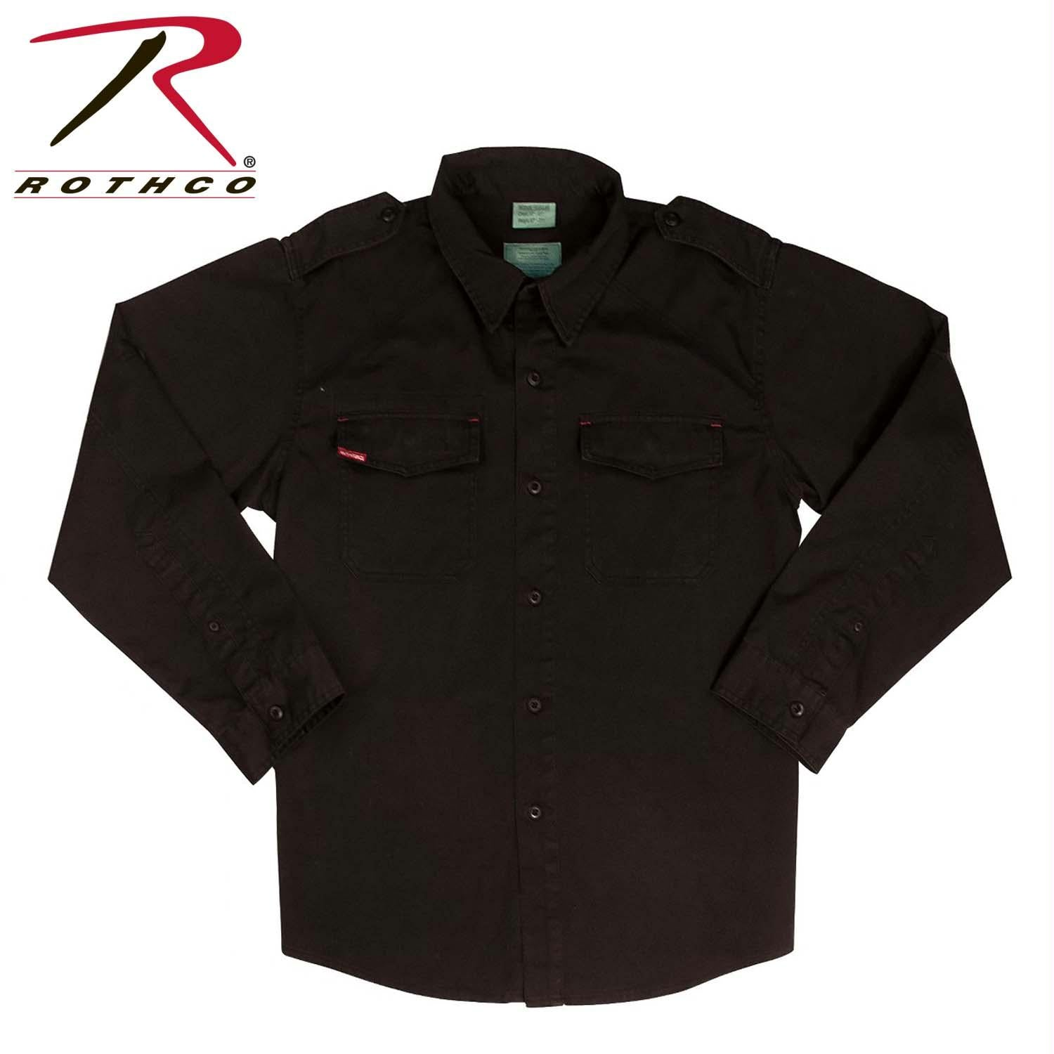 Rothco Vintage Fatigue Shirts - Black / S