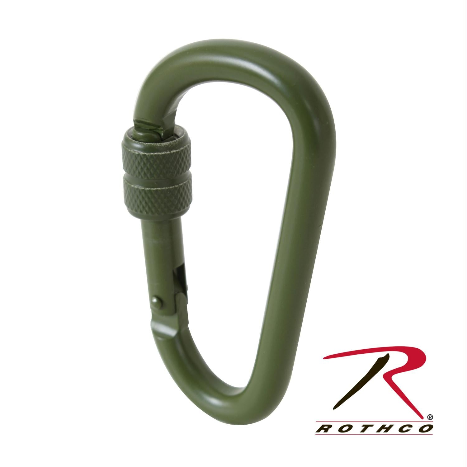 Rothco 80MM Locking Carabiner - Olive Drab