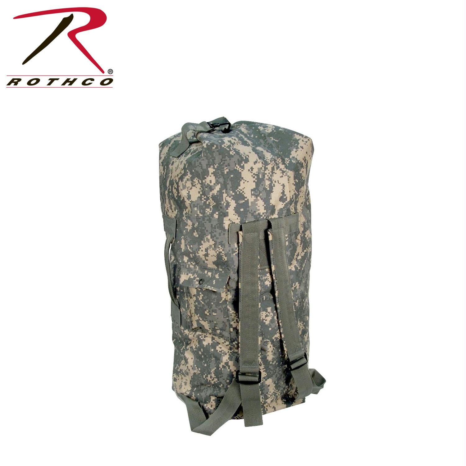 Rothco G.I. Type Enhanced Double Strap Duffle Bag - ACU Digital Camo