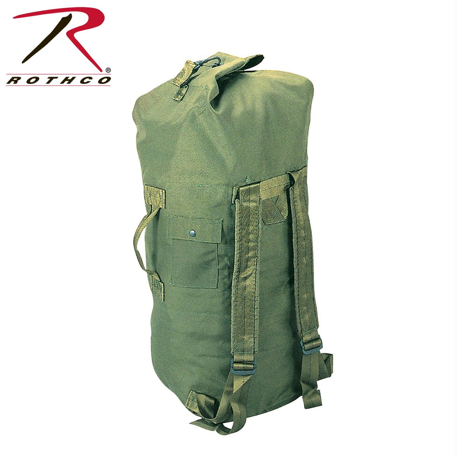 Rothco G.I. Type Enhanced Double Strap Duffle Bag - Olive Drab
