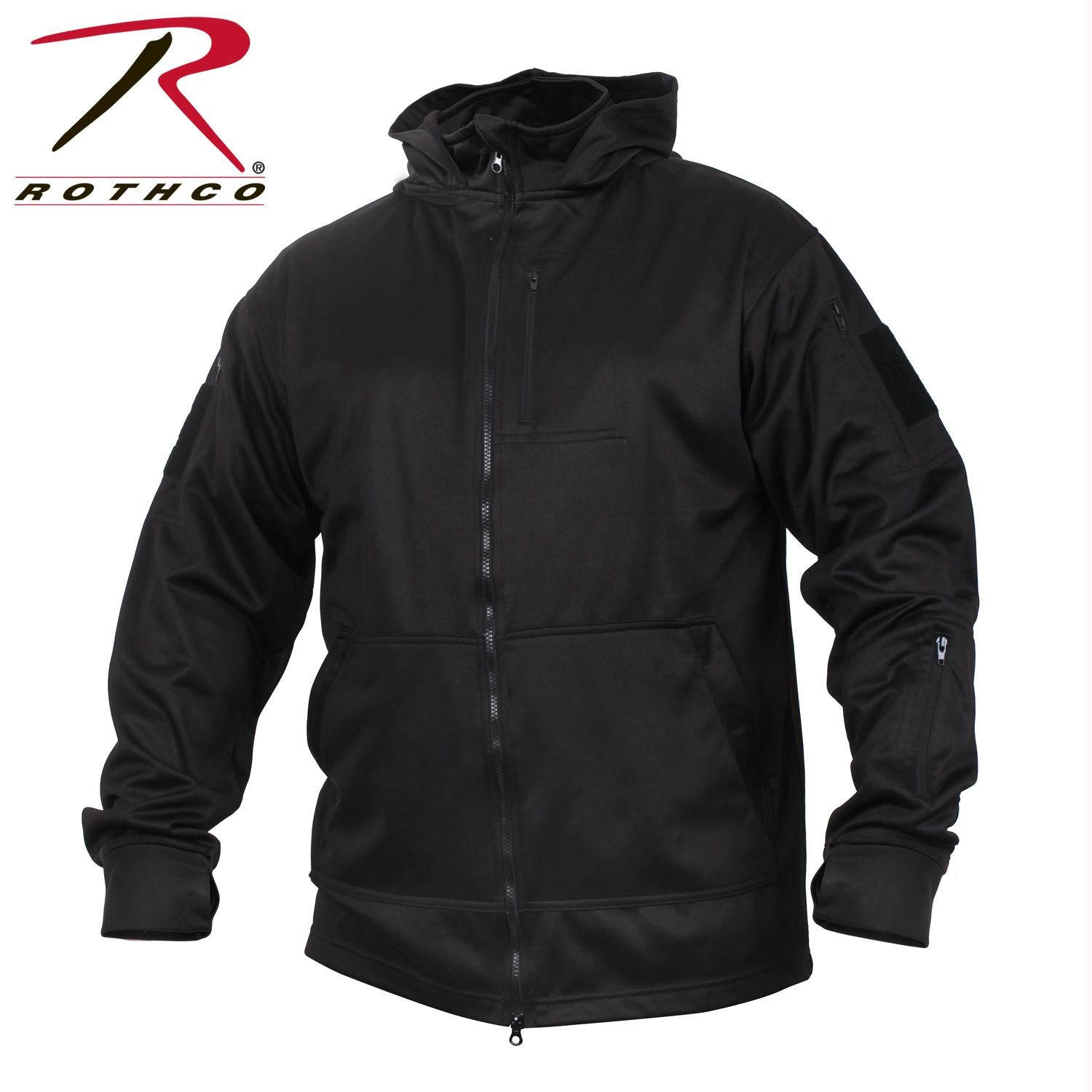 Rothco Tactical Zip Up Hoodie - Black / L