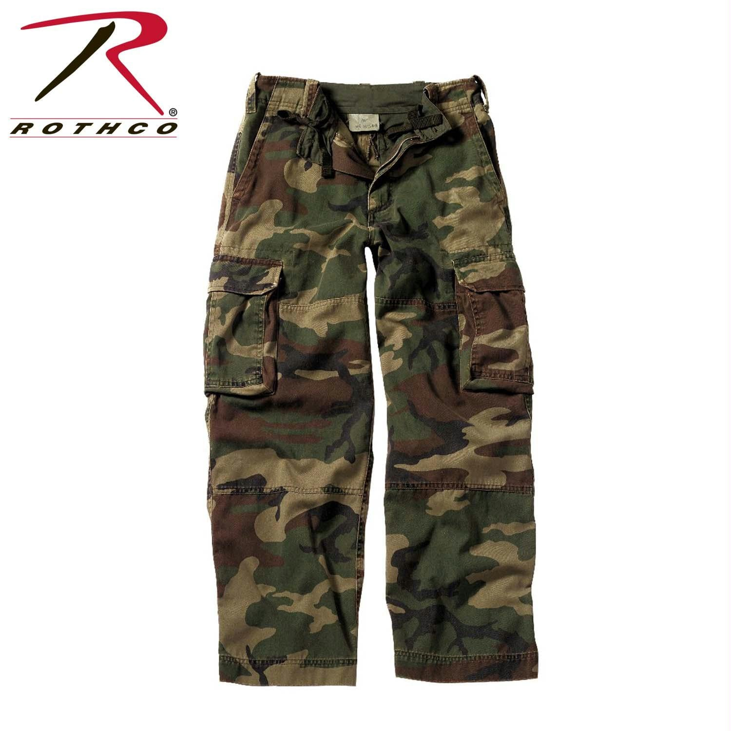 Rothco Kids Vintage Paratrooper Fatigue - Woodland Camo / XS