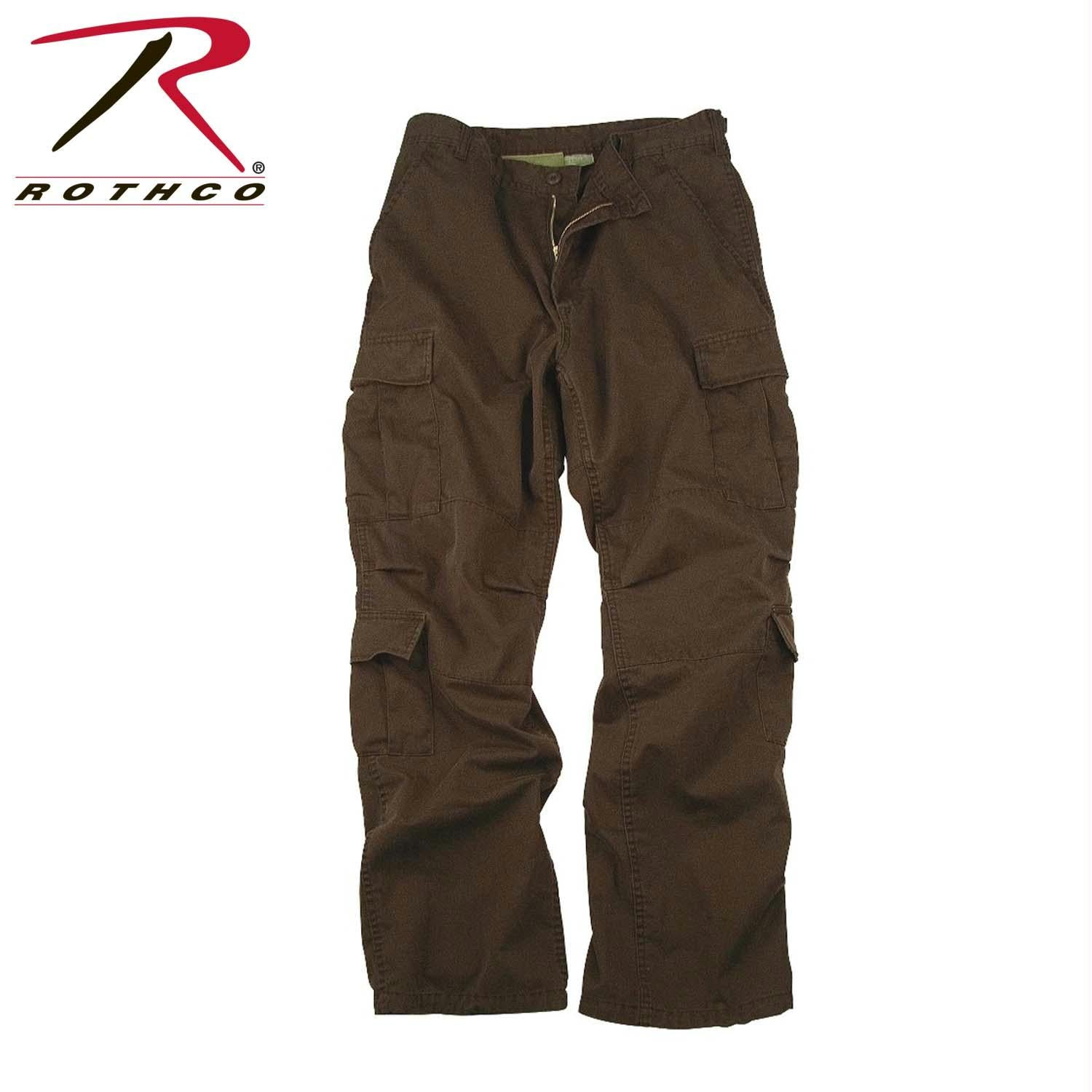 Rothco Vintage Paratrooper Fatigue Pants - Brown / XL