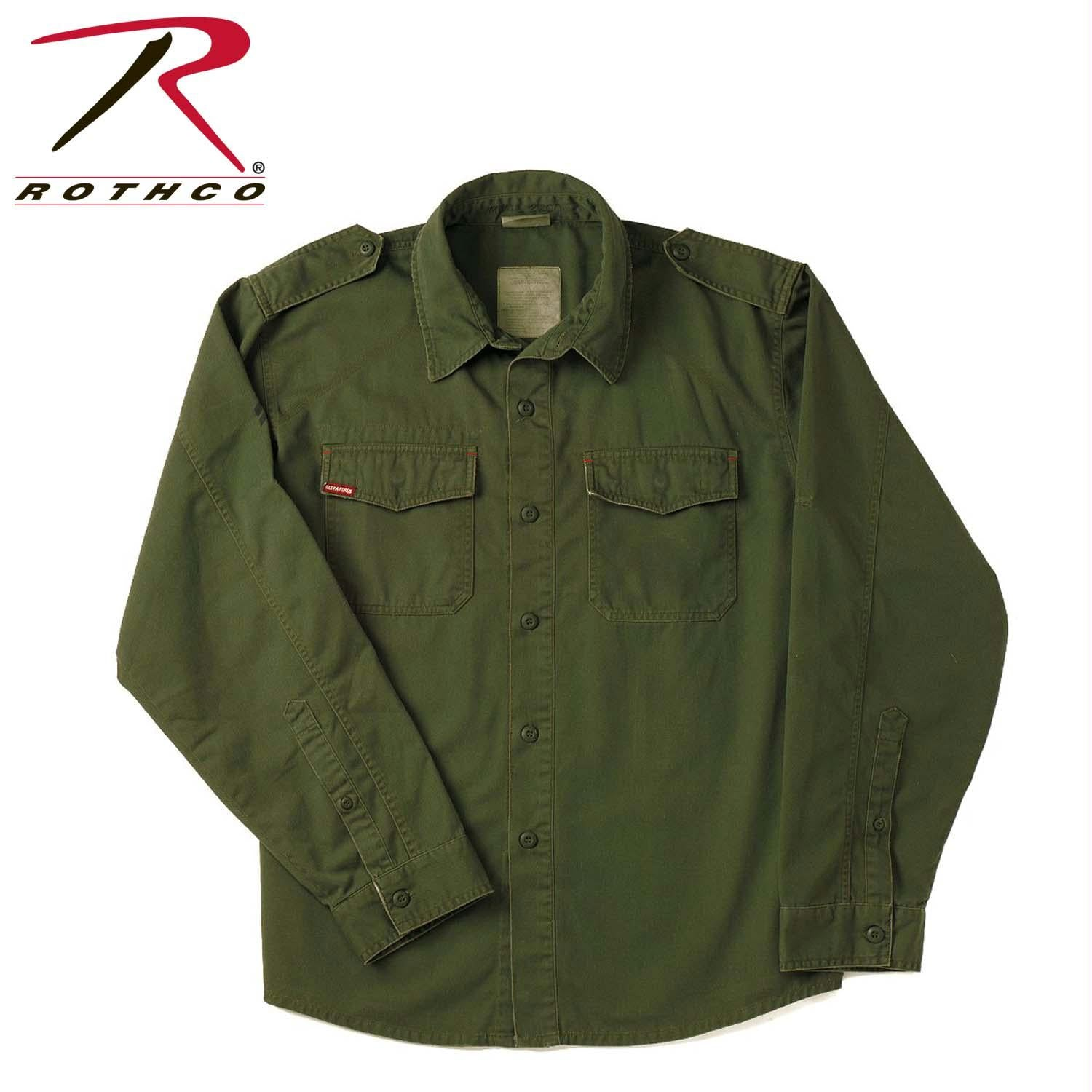 Rothco Vintage Fatigue Shirts - Olive Drab / S