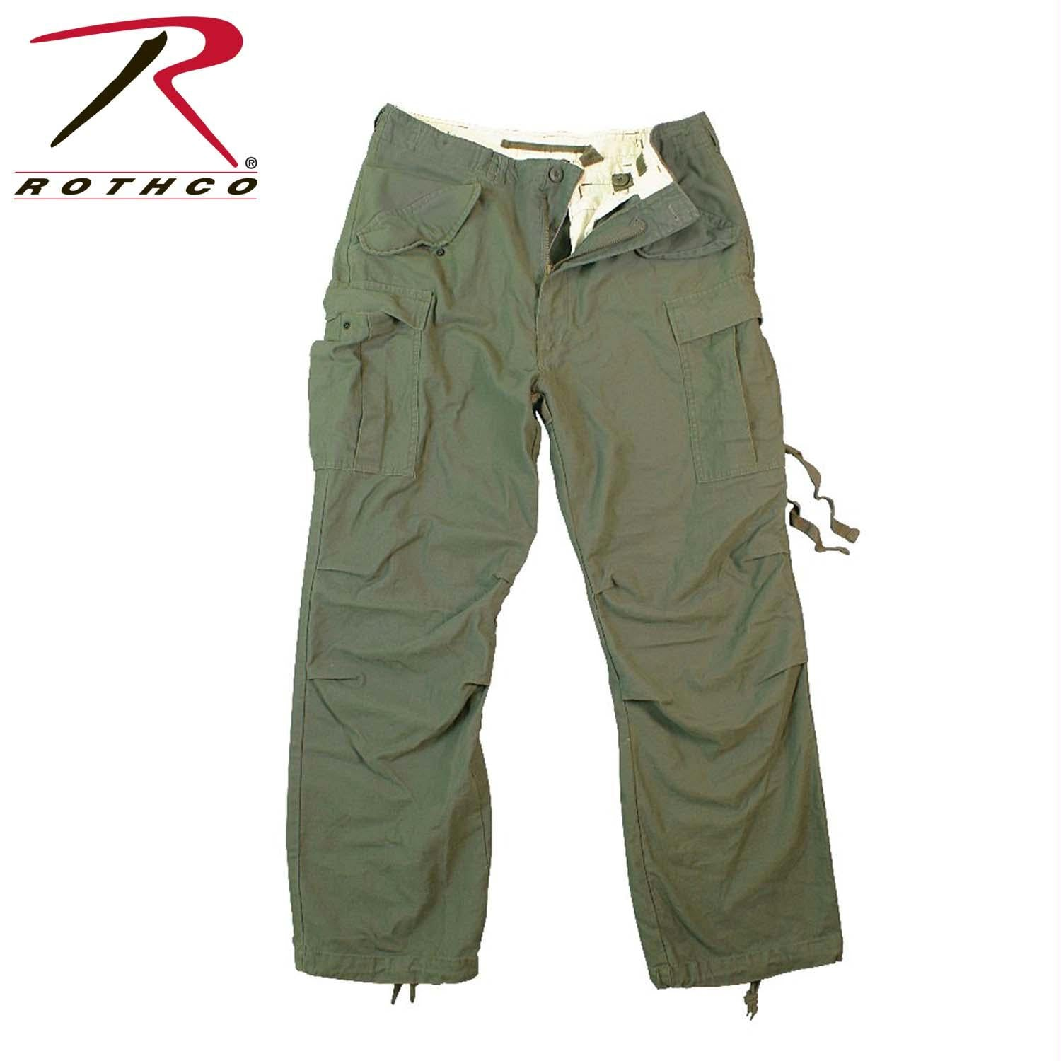 Rothco Vintage M-65 Field Pant - Olive Drab / L