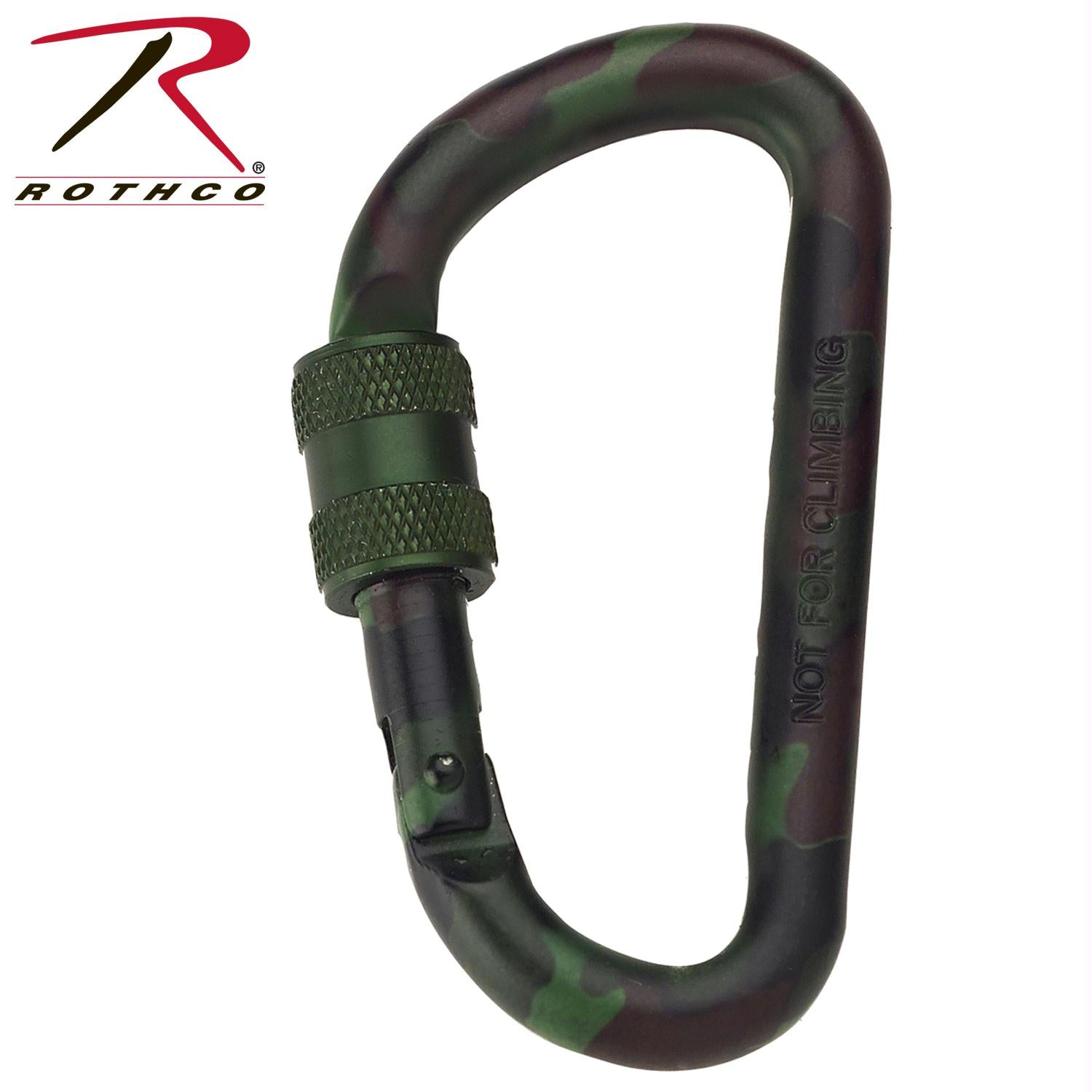 Rothco 80MM Locking Carabiner - Woodland Camo