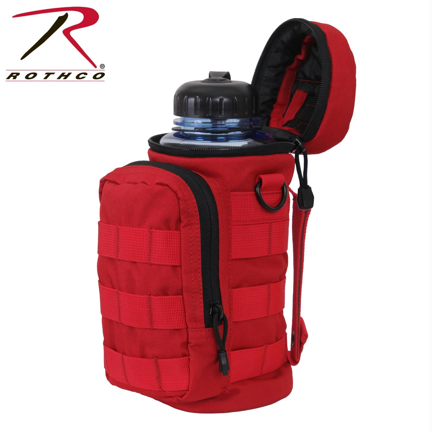 Rothco MOLLE Compatible Water Bottle Pouch - Red