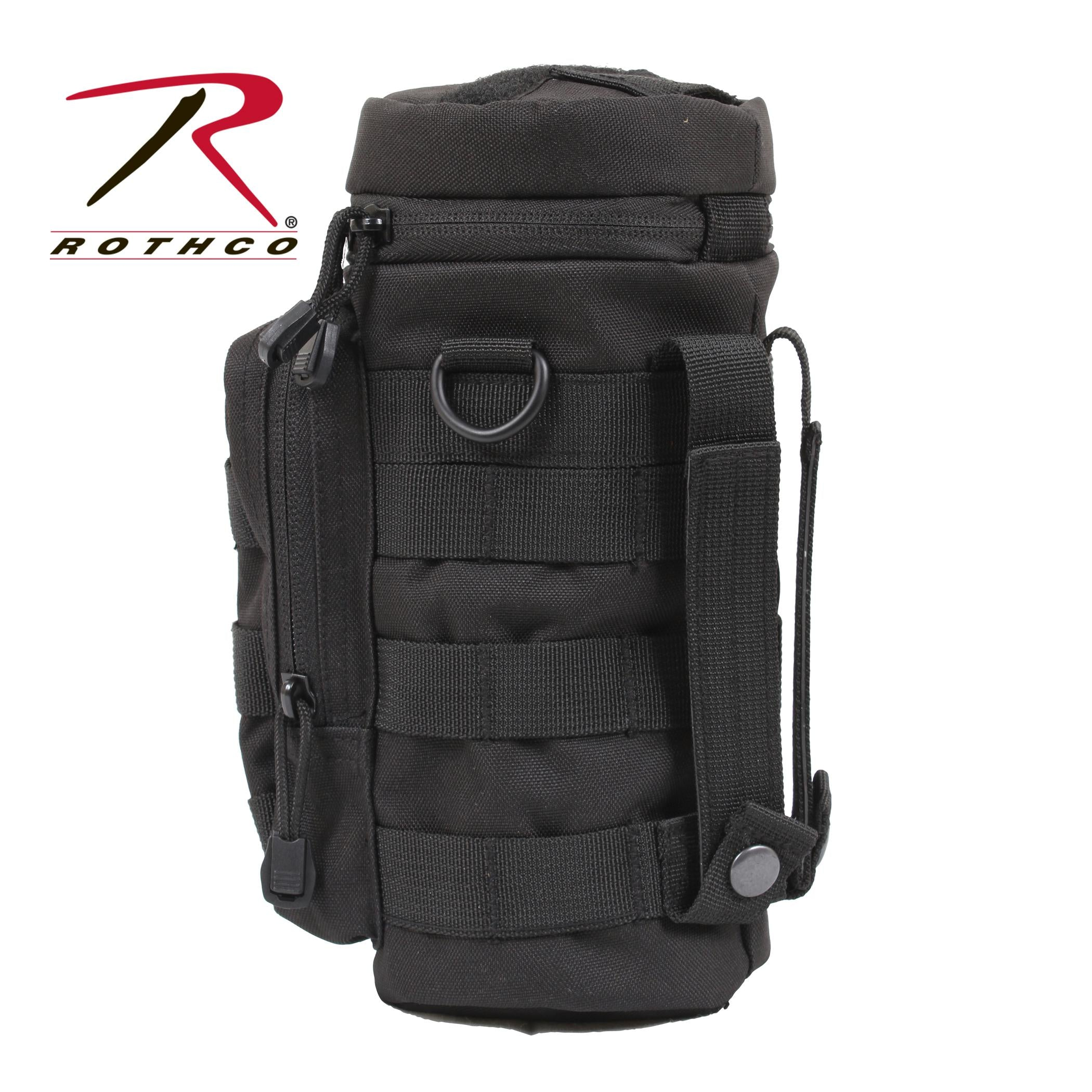Rothco MOLLE Compatible Water Bottle Pouch - Black