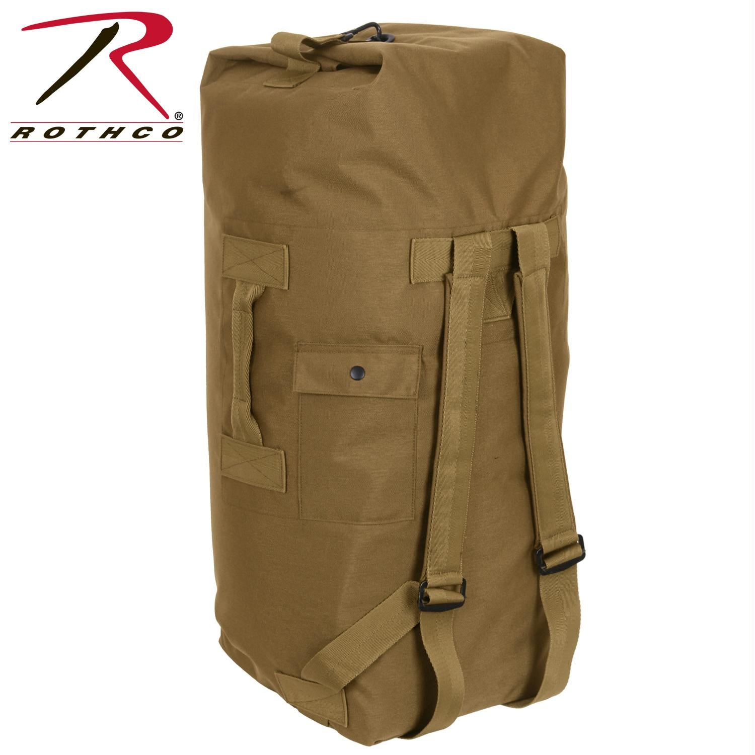Rothco G.I. Type Enhanced Double Strap Duffle Bag - Coyote Brown