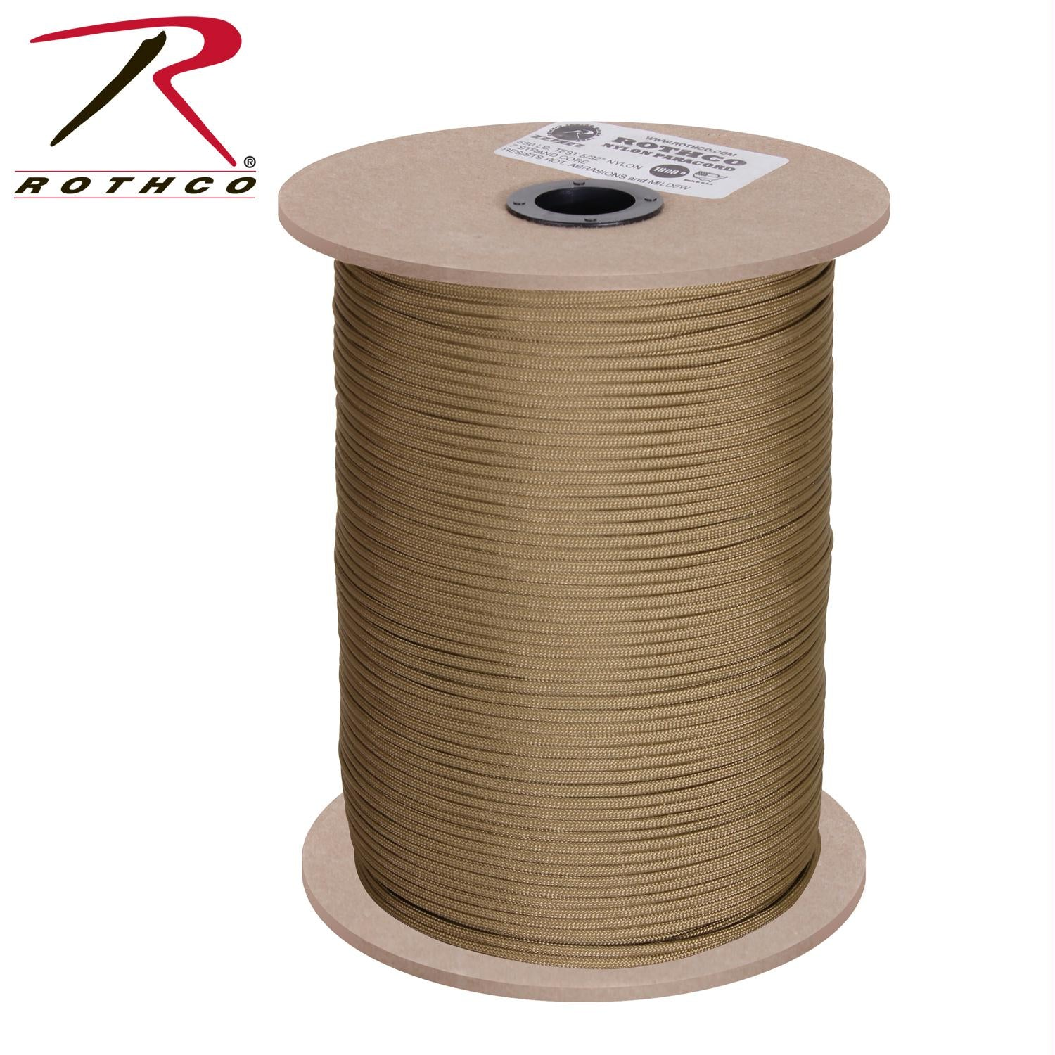 Rothco Nylon Paracord 550lb 1000 Ft Spool - Coyote Brown