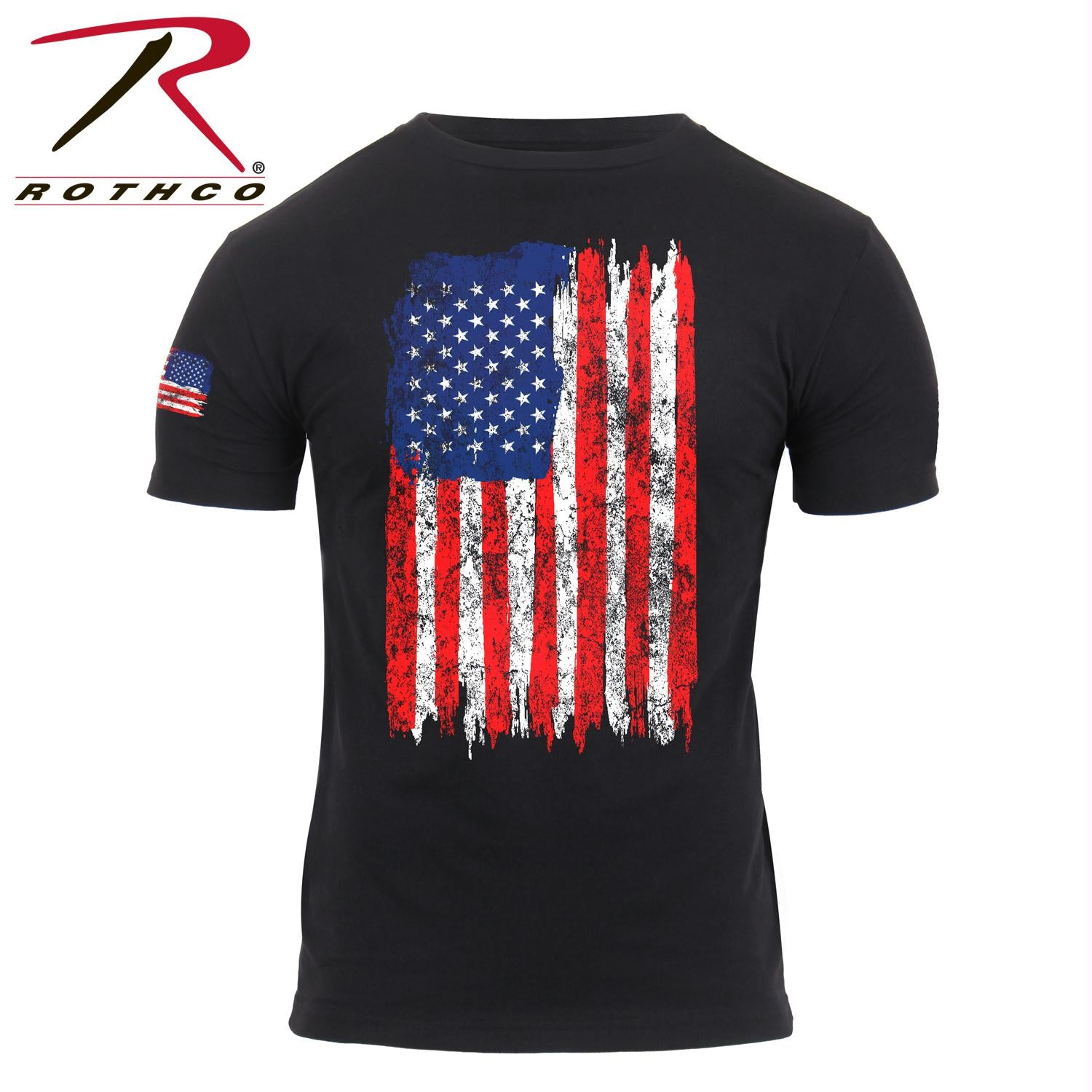 Rothco Distressed US Flag T-Shirt - Red / White / Blue / 3XL