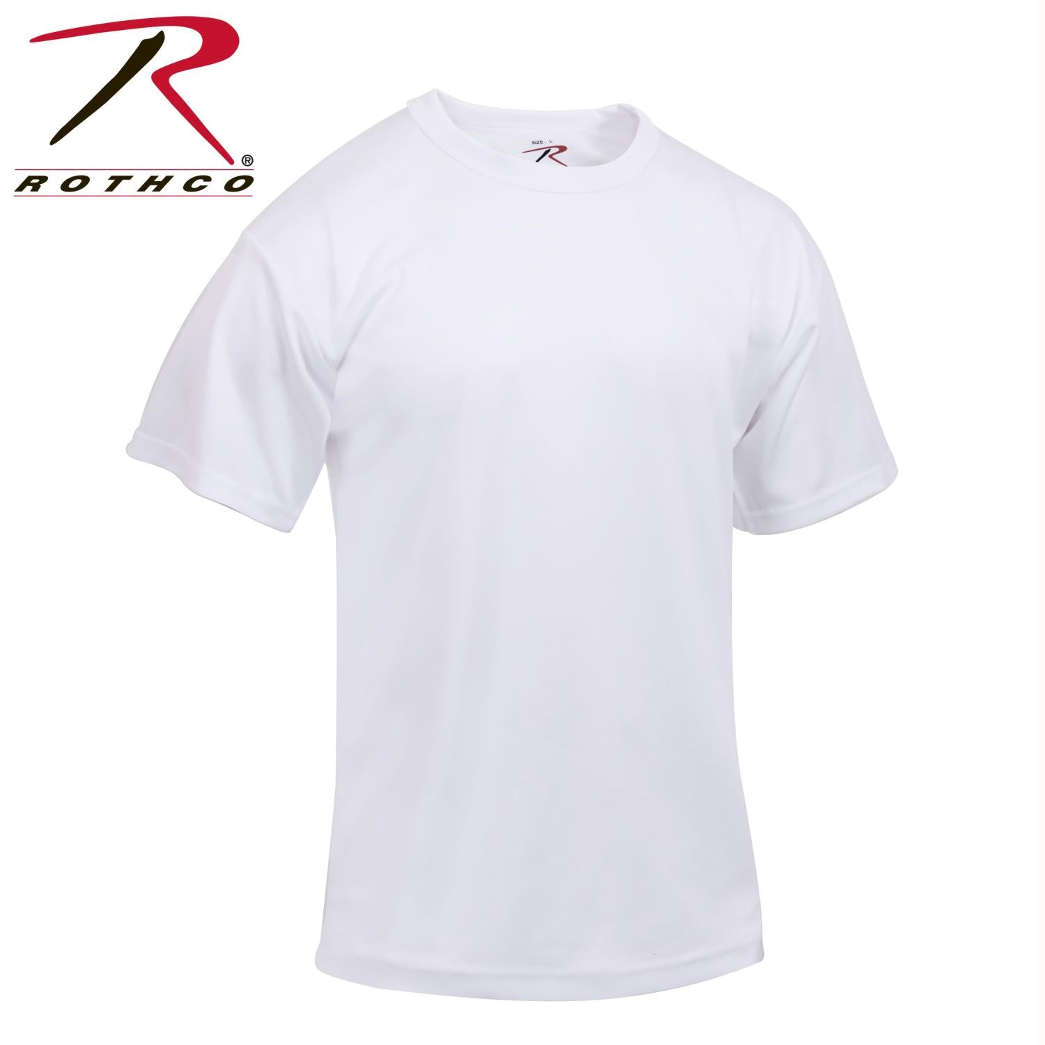 Rothco Quick Dry Moisture Wicking T-shirt - White / M