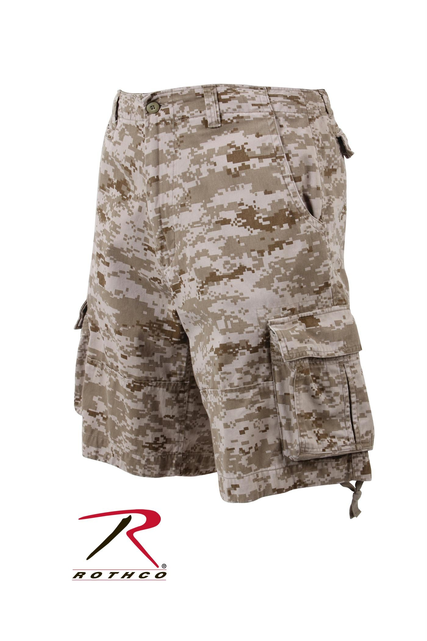 Rothco Vintage Camo Infantry Utility Shorts - Desert Digital Camo / XS