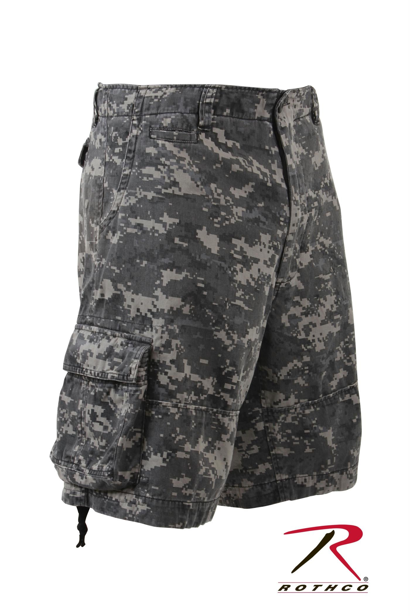 Rothco Vintage Camo Infantry Utility Shorts - Subdued Urban Digital Camo / XS