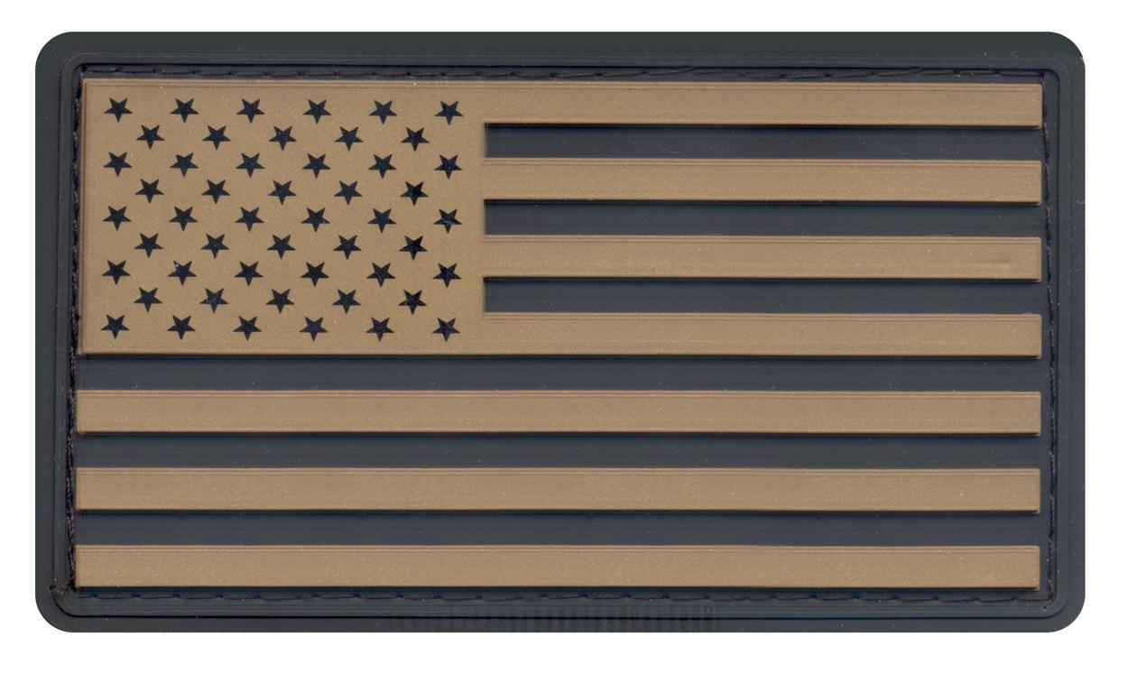 Rothco PVC US Flag Patch With Hook Back