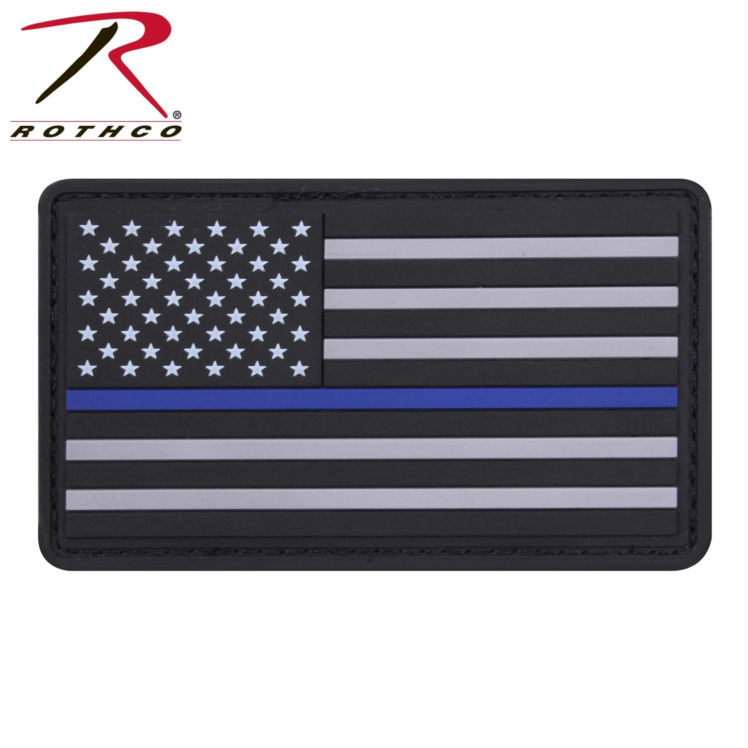 Rothco PVC Thin Blue Line Flag Patch