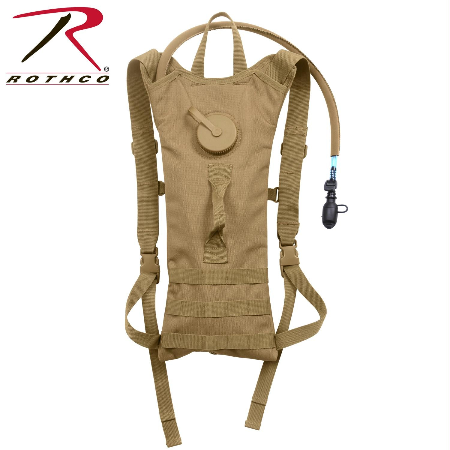 Rothco MOLLE 3 Liter Backstrap Hydration System - Coyote Brown