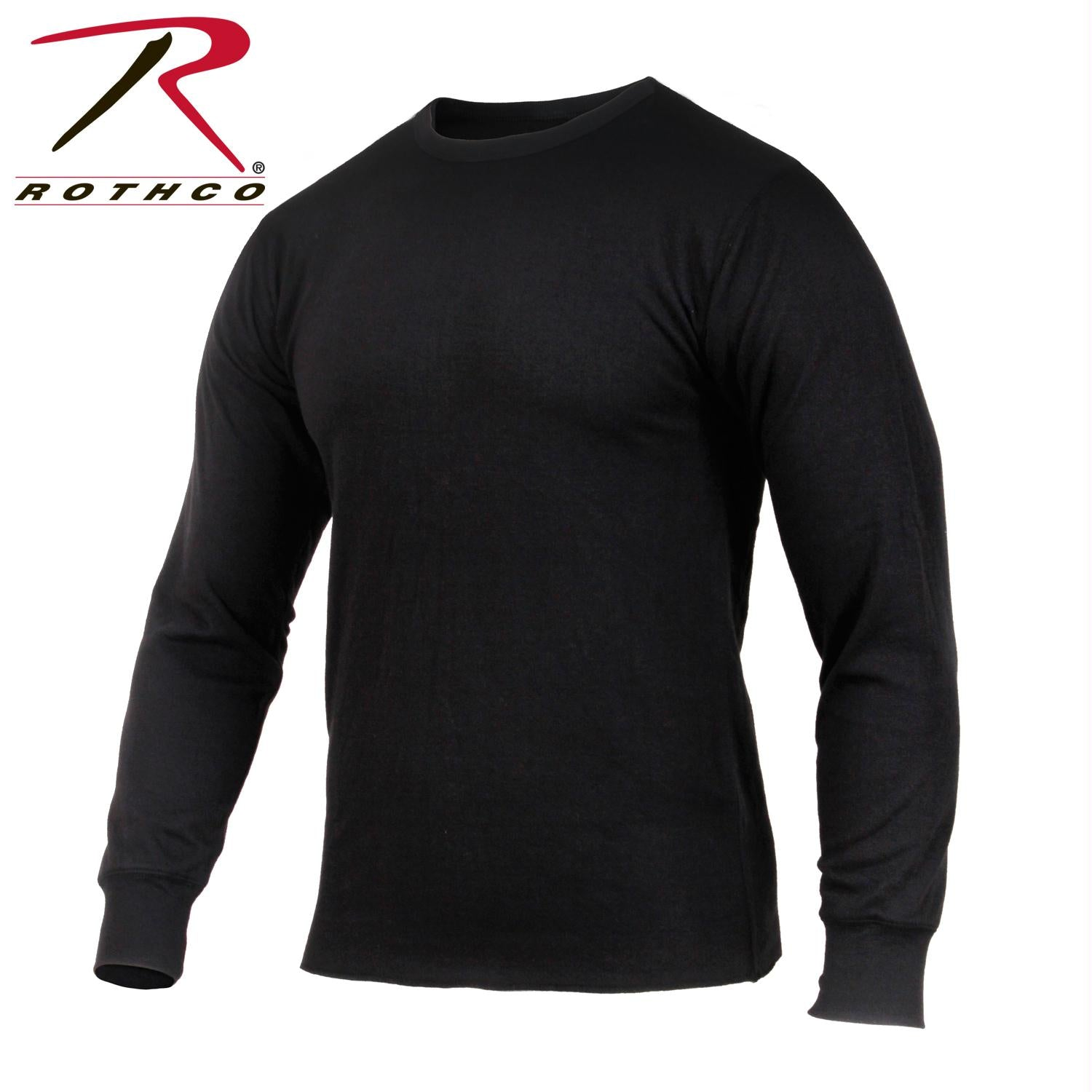 Rothco Midweight Thermal Knit Top - Black / L