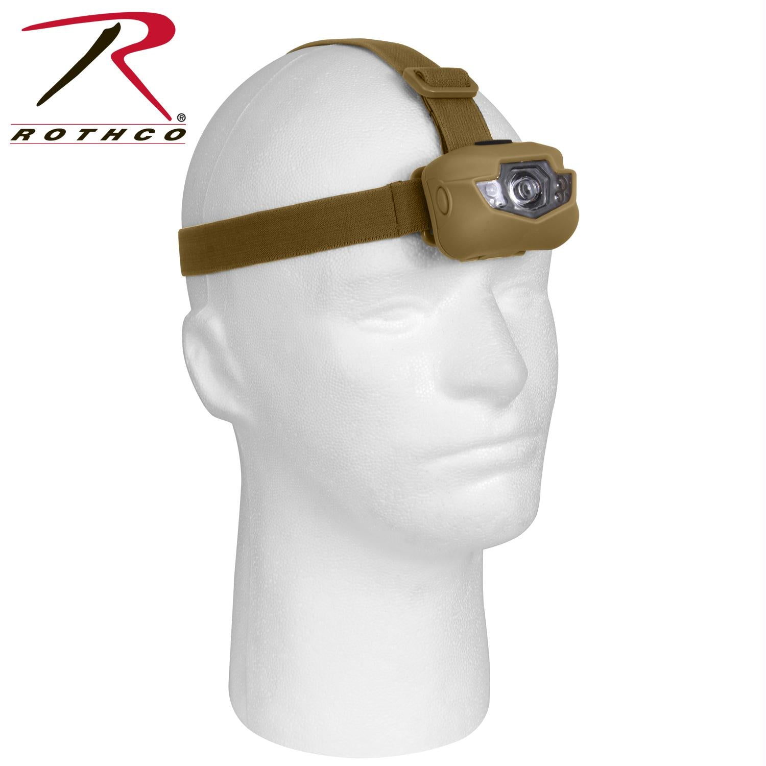 Rothco LED Headlamp - Coyote Brown