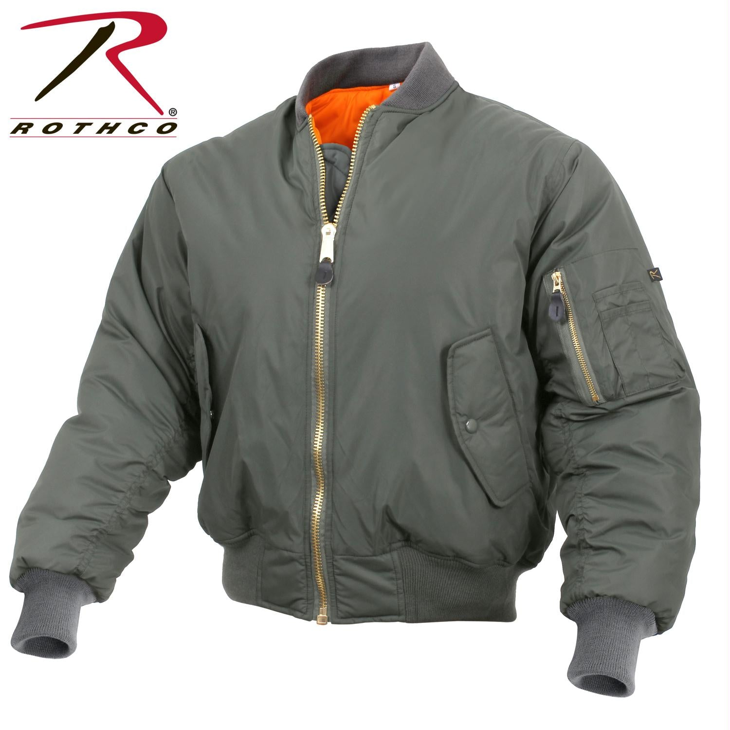 Rothco Enhanced Nylon MA-1 Flight Jacket - Sage Green / S