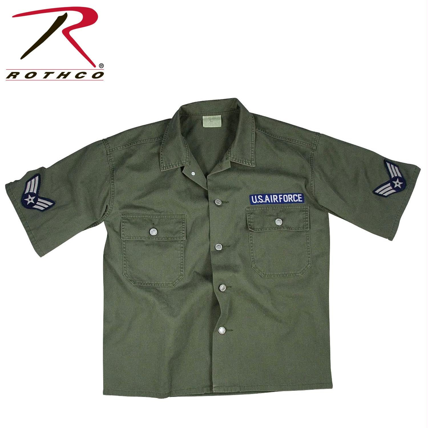 Rothco Vintage Army Air Force Short Sleeve BDU Shirt - XS