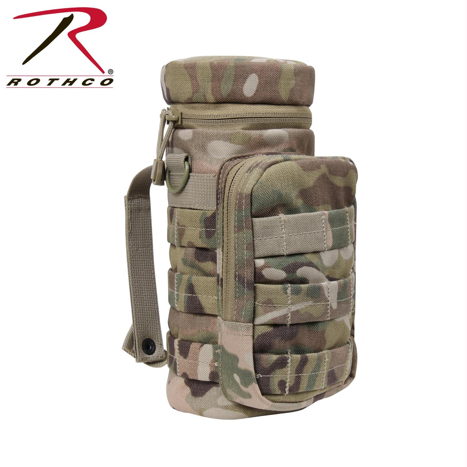 Rothco MOLLE Compatible Water Bottle Pouch - MultiCam