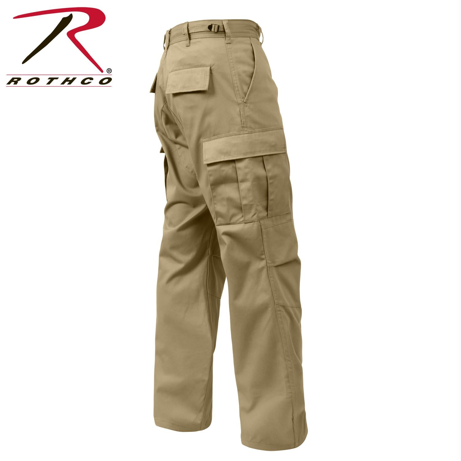 Rothco Relaxed Fit Zipper Fly BDU Pants - Khaki / 2XL