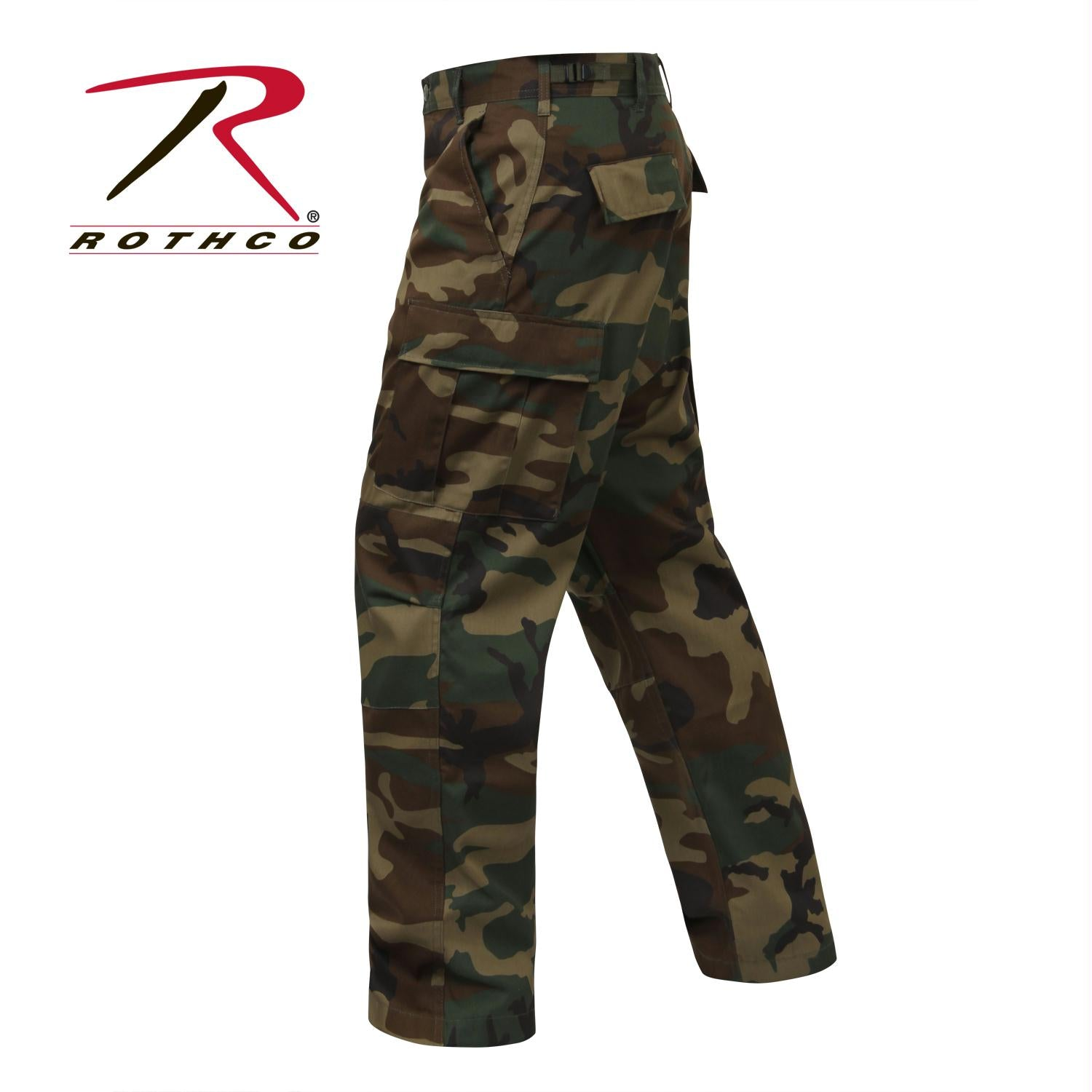 Rothco Relaxed Fit Zipper Fly BDU Pants - Woodland Camo / S