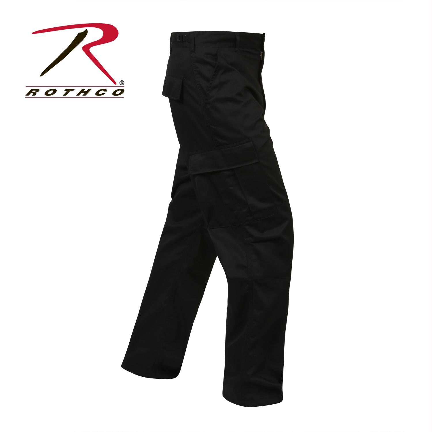 Rothco Relaxed Fit Zipper Fly BDU Pants - Black / 3XL