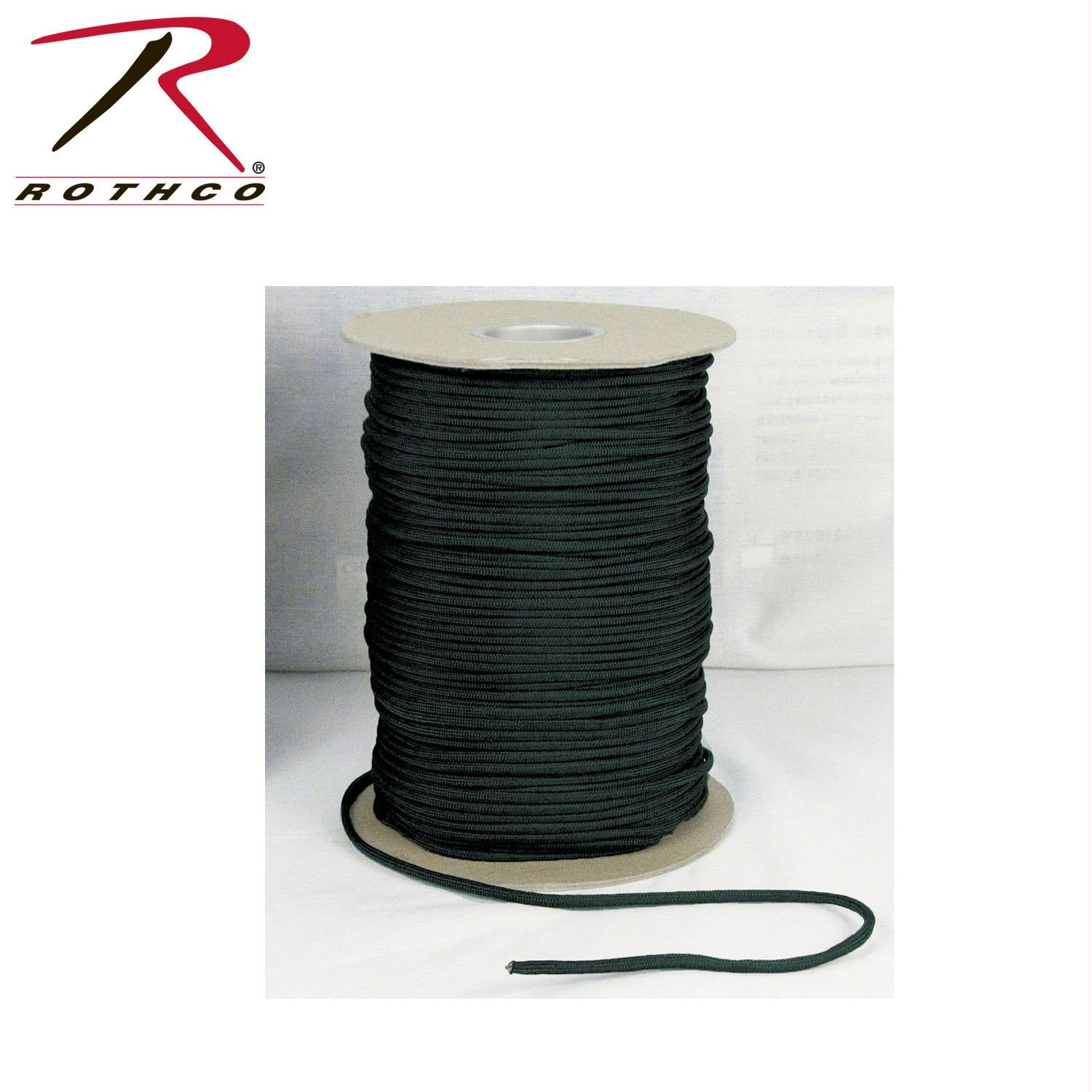 Rothco Nylon Paracord 550lb 1000 Ft Spool - Black