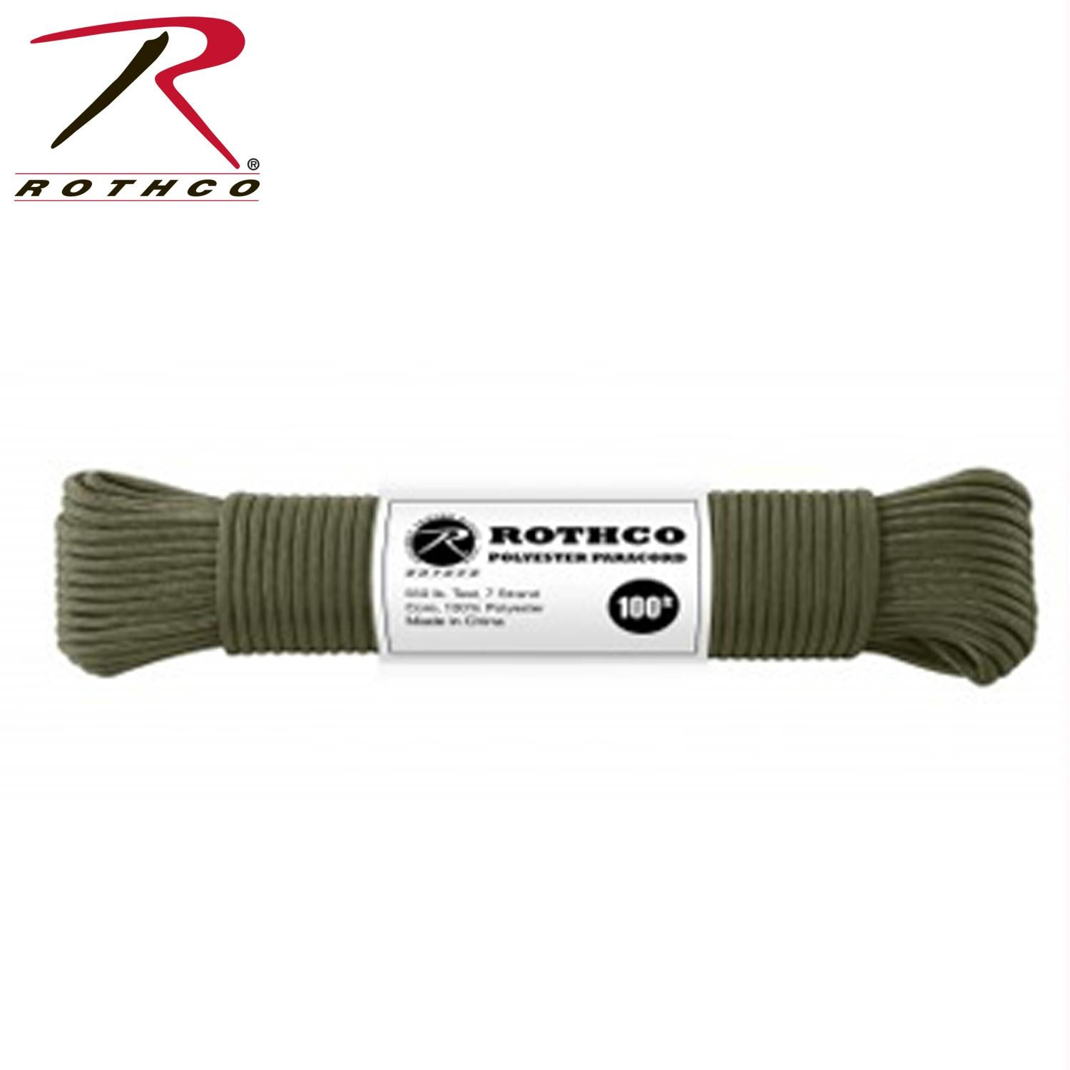 Rothco Polyester Paracord - Olive Drab / 50'