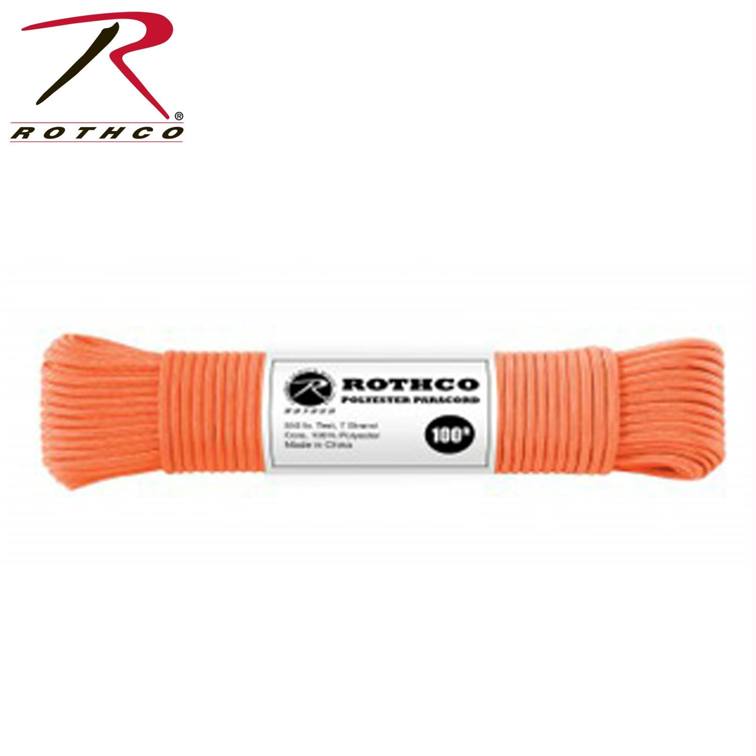 Rothco Polyester Paracord - Safety Orange / 100'