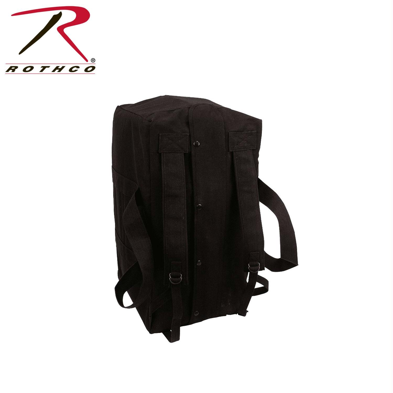 Rothco Canvas Mossad Type Tactical Canvas Cargo Bag - Black