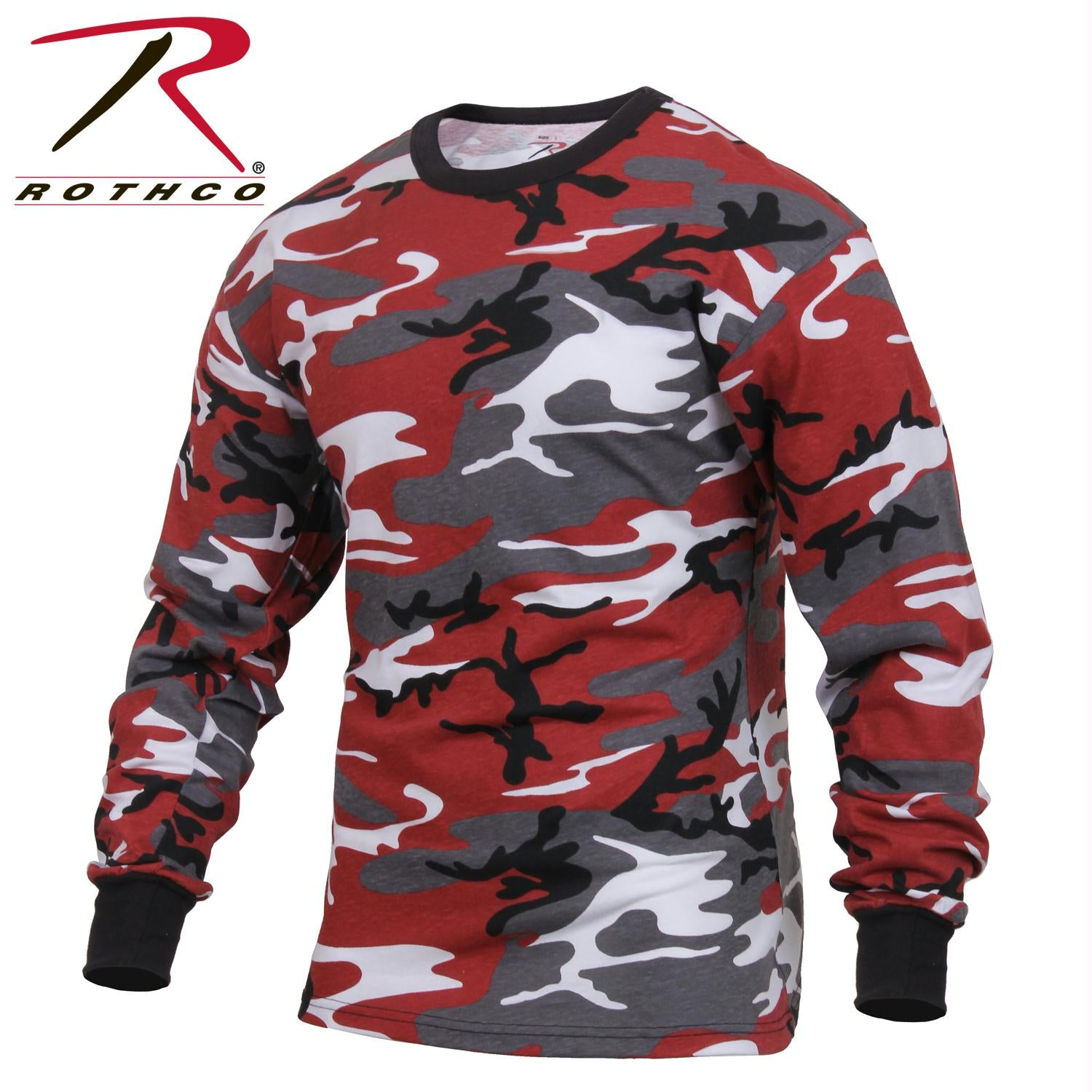Rothco Long Sleeve Colored Camo T-Shirt - Red Camo / 3XL