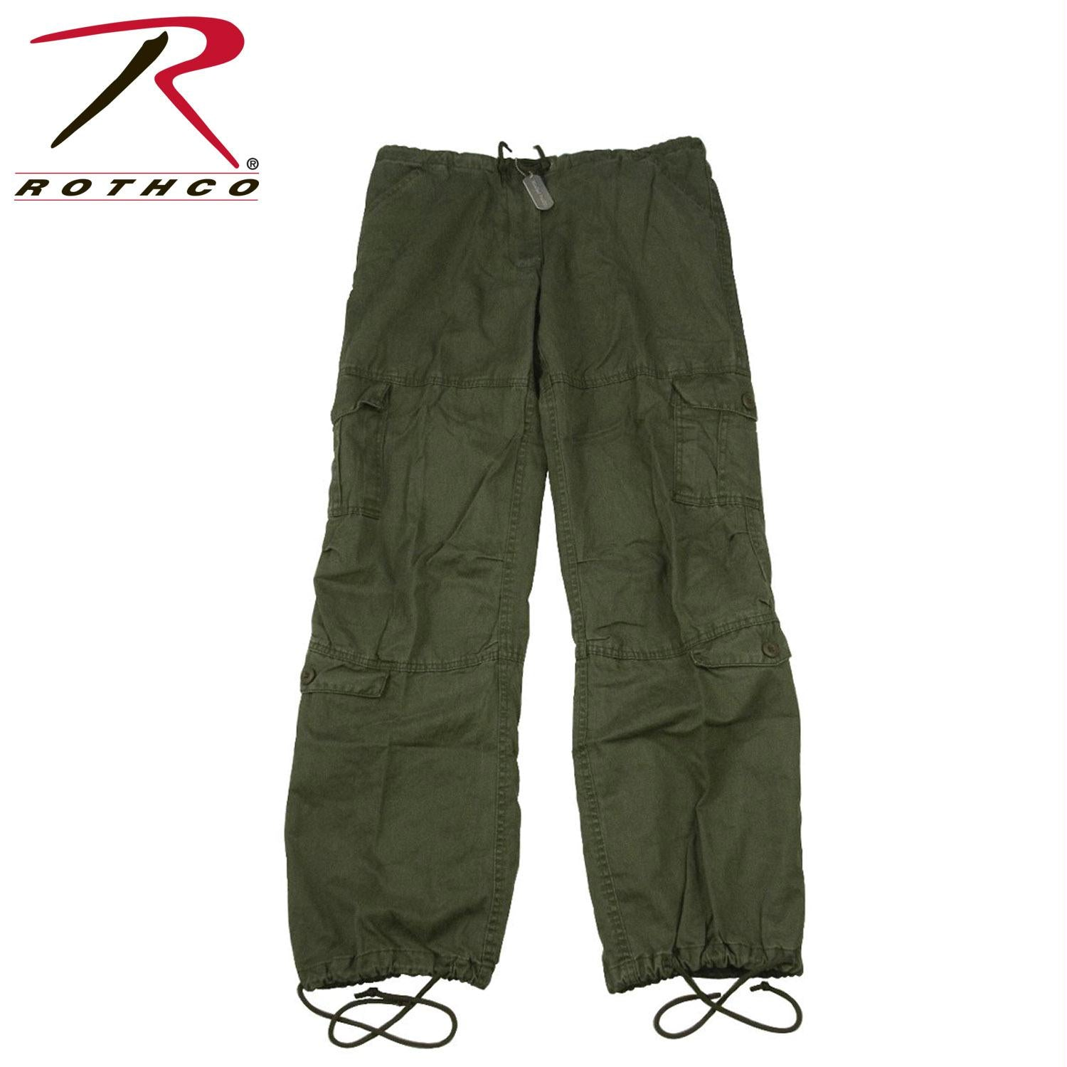 Rothco Women's Vintage Paratrooper Fatigue Pants - Olive Drab / L