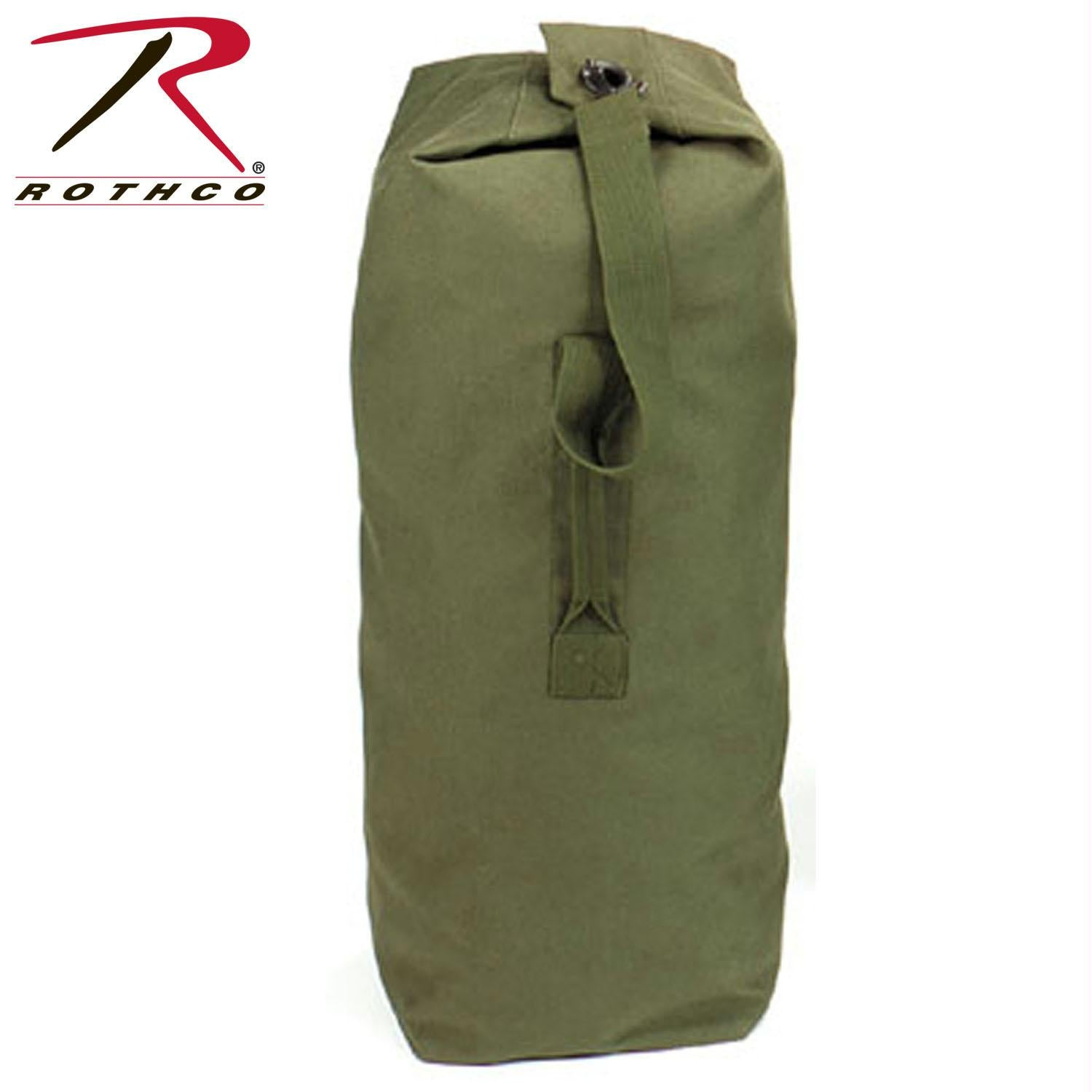 Rothco Heavyweight Top Load Canvas Duffle Bag - Olive Drab / 21