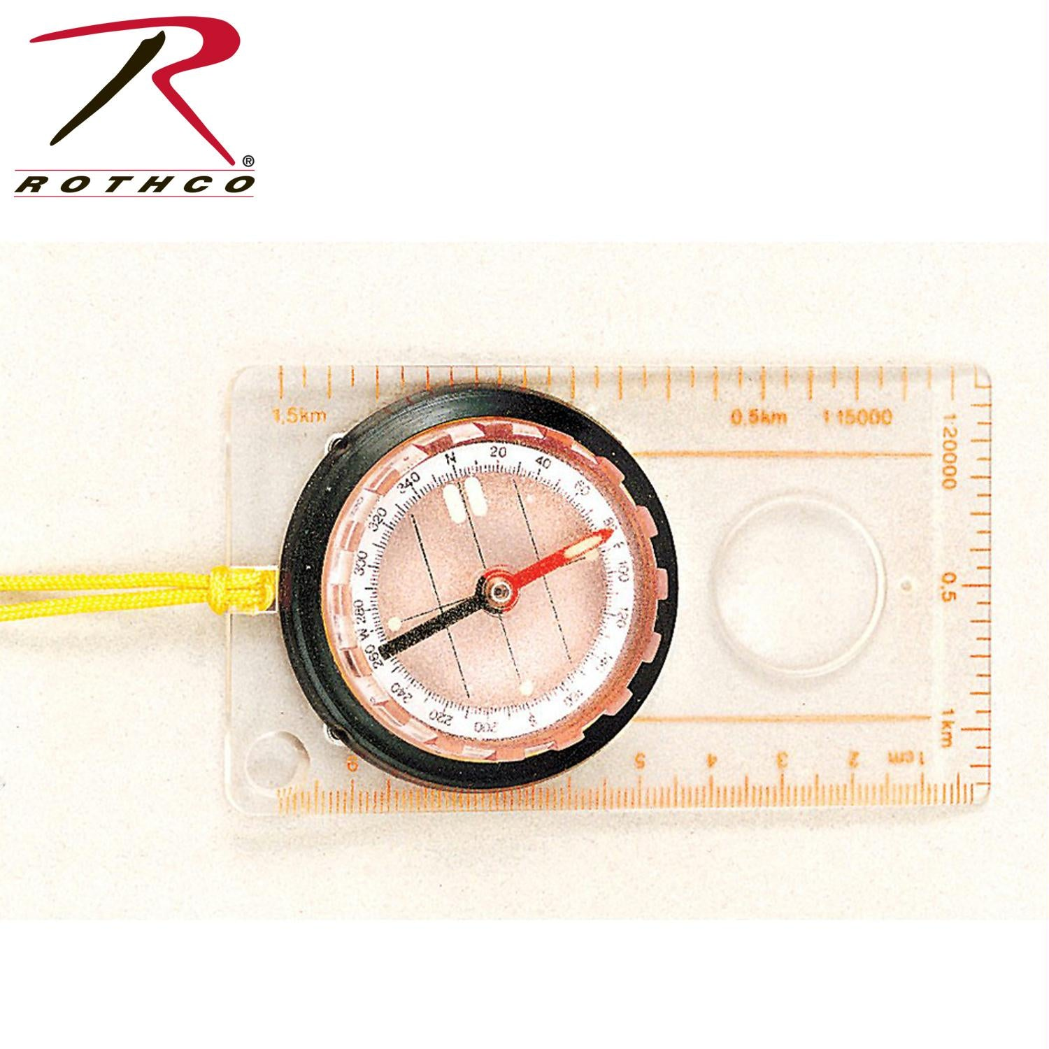 Rothco Map Compass - Clear