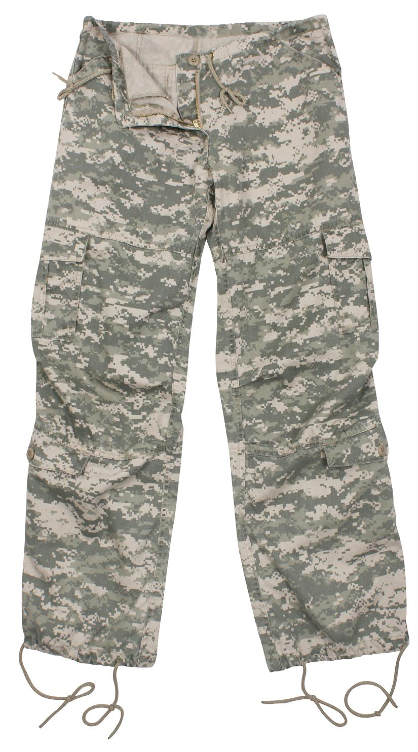 Rothco Womens Camo Vintage Paratrooper Fatigue Pants